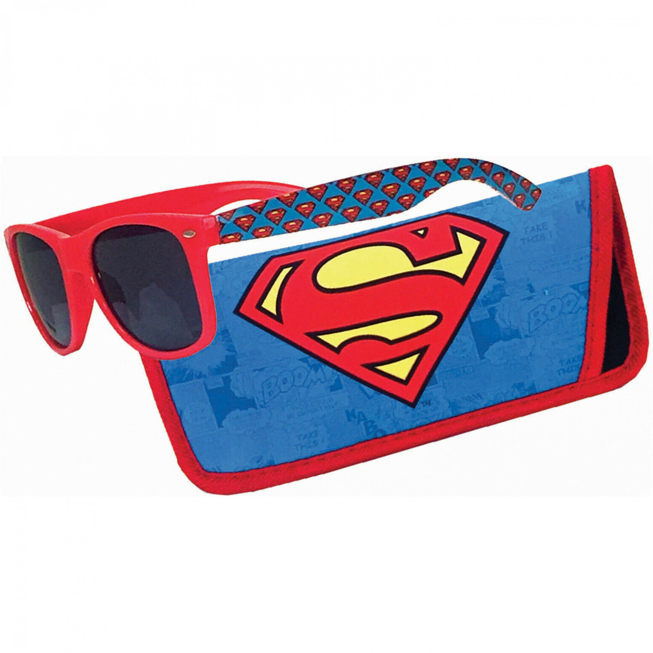 Superman Logo Sunglasses with Pouch