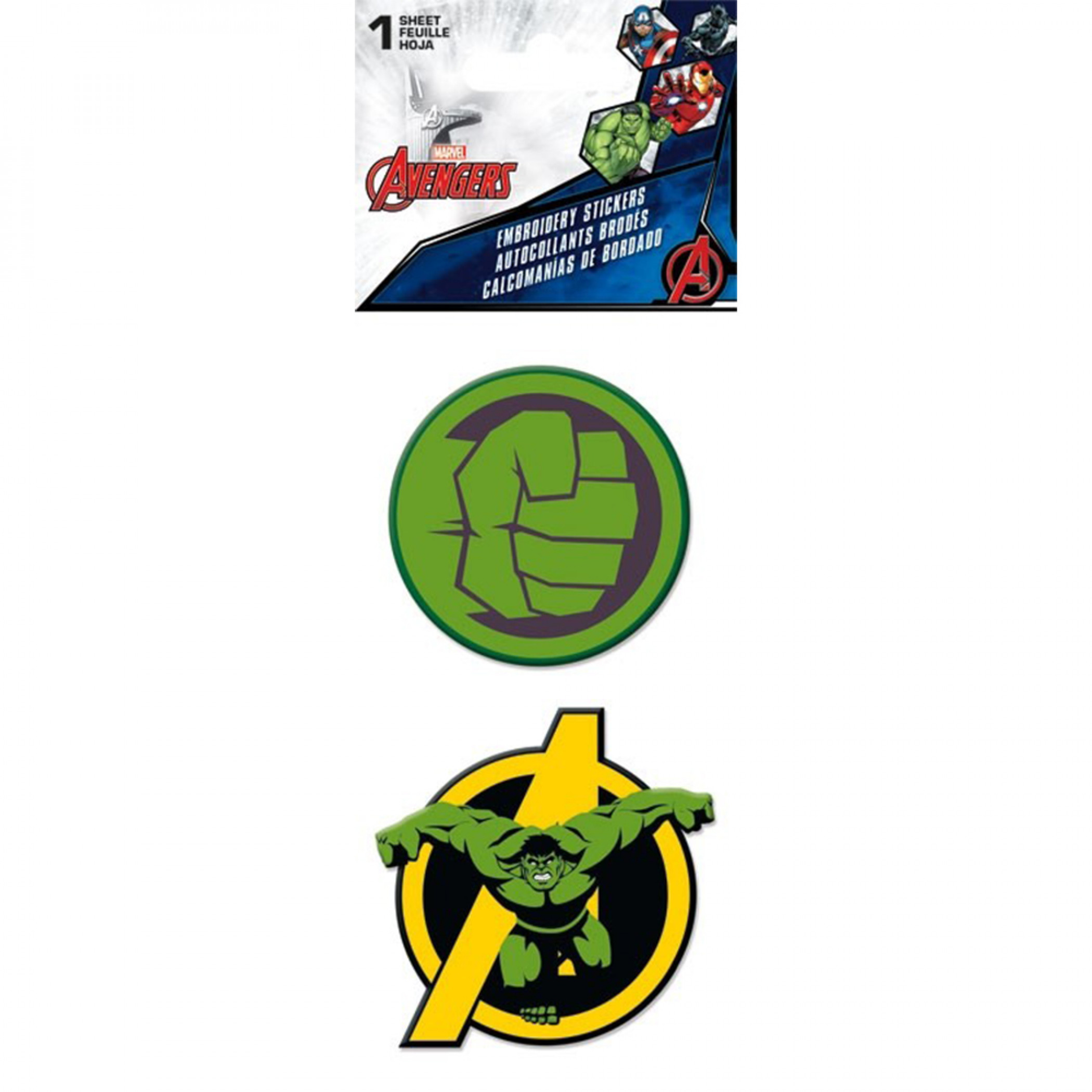 The Incredible Hulk Symbols Embroidered Stickers