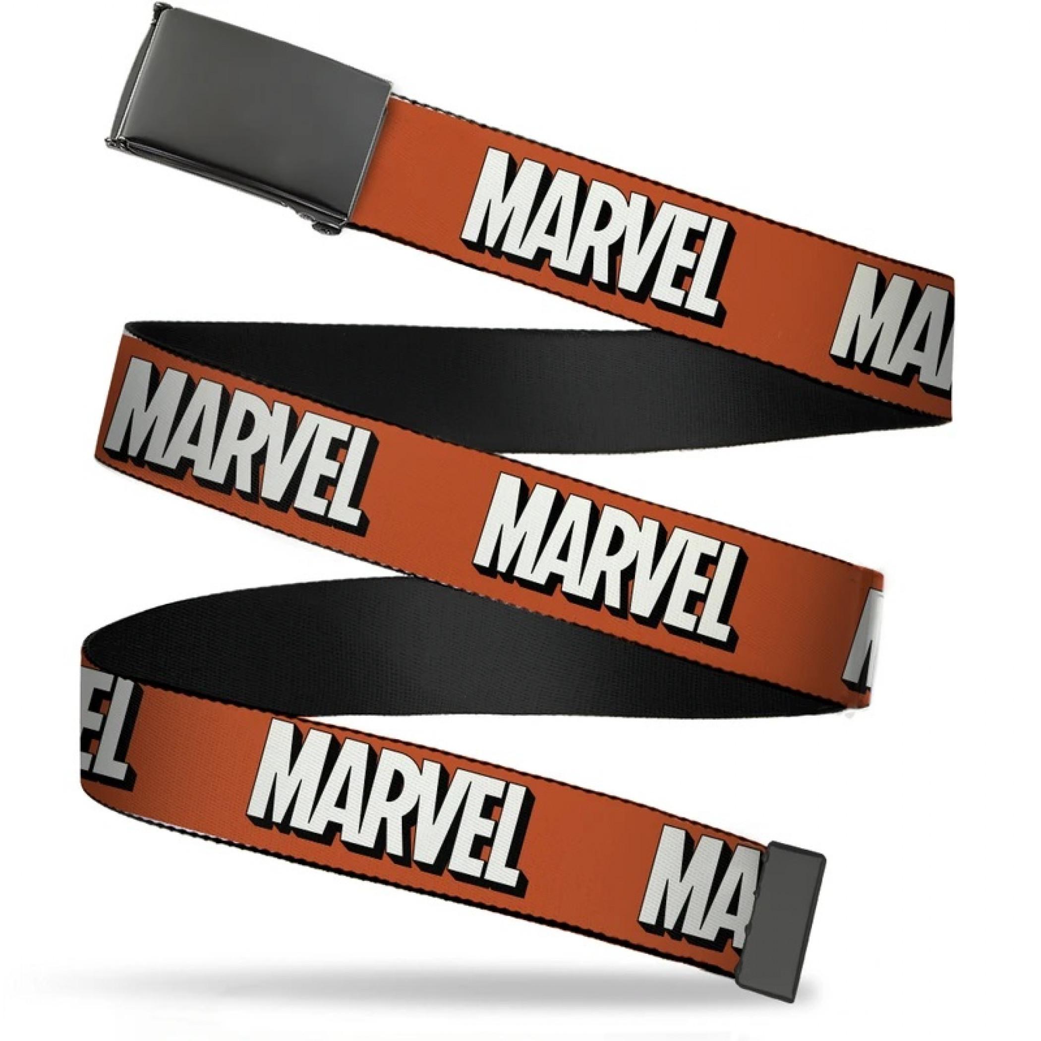 Marvel Shadow Logo Scattered Webbing Belt