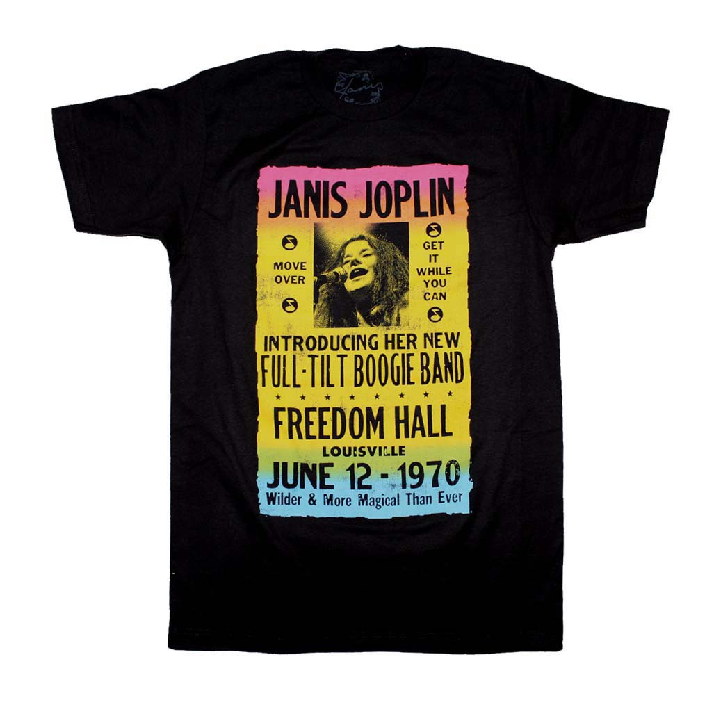 Janis Joplin Freedom Hall Poster T-Shirt