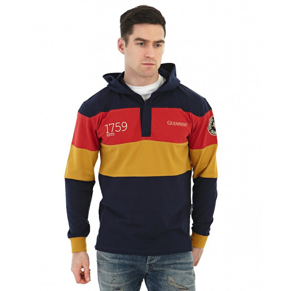 Guinness Striped Rugby Hoodie