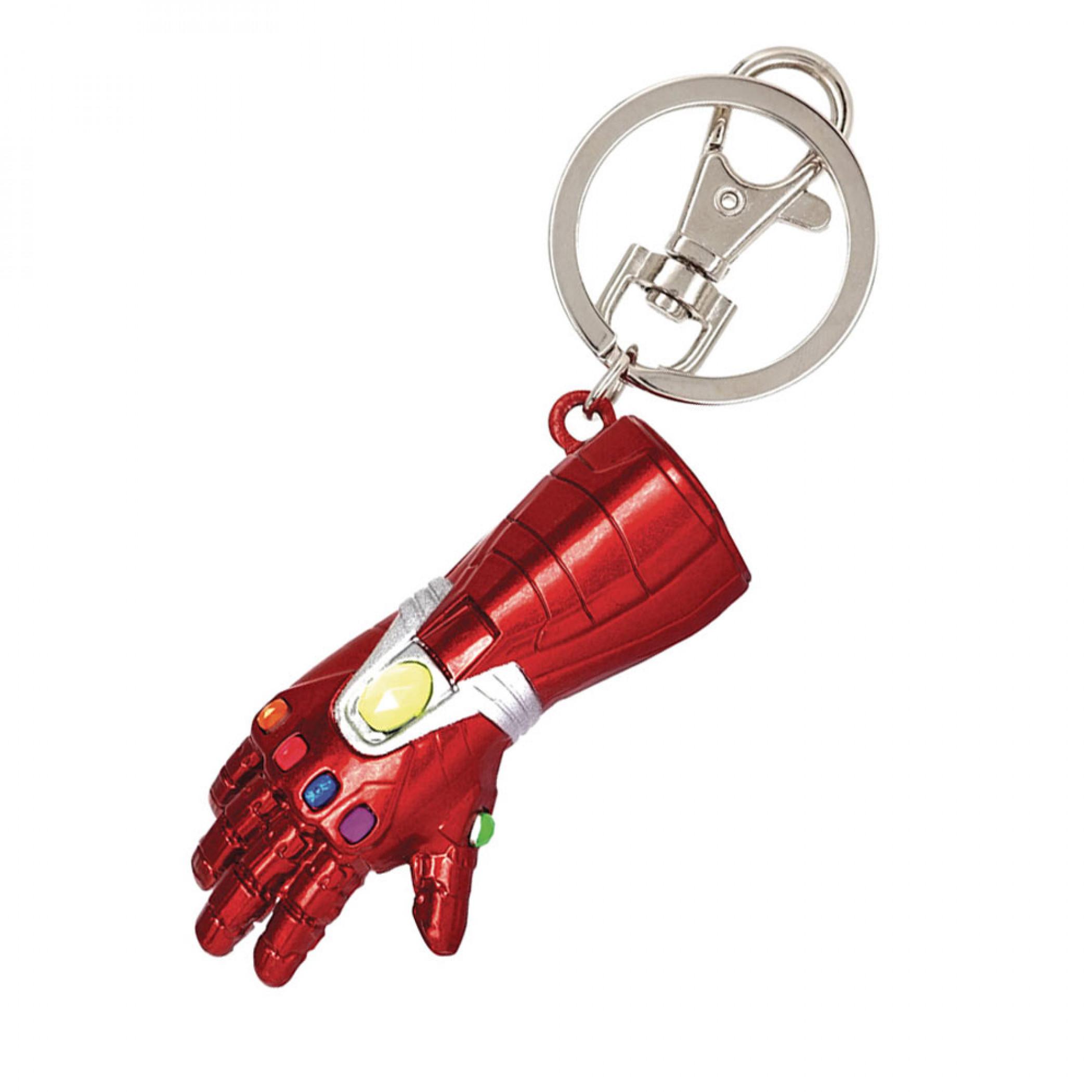 Iron Man Gauntlet Pewter Keychain