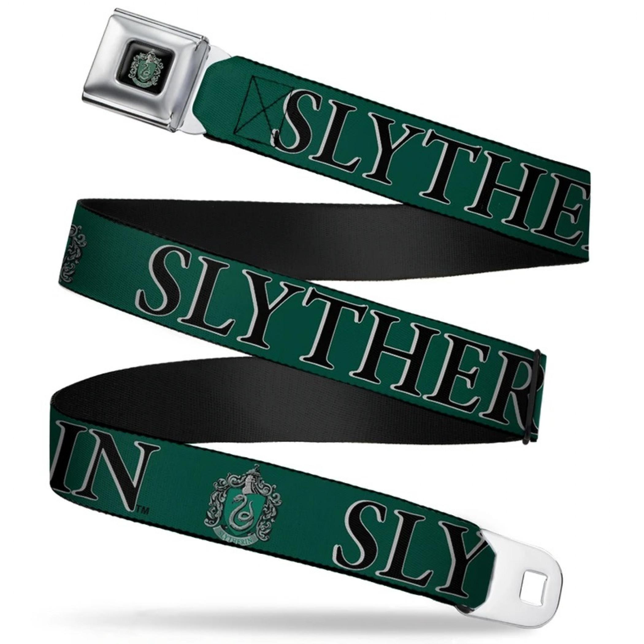 Harry Potter Slytherin Seatbelt Buckle Belt