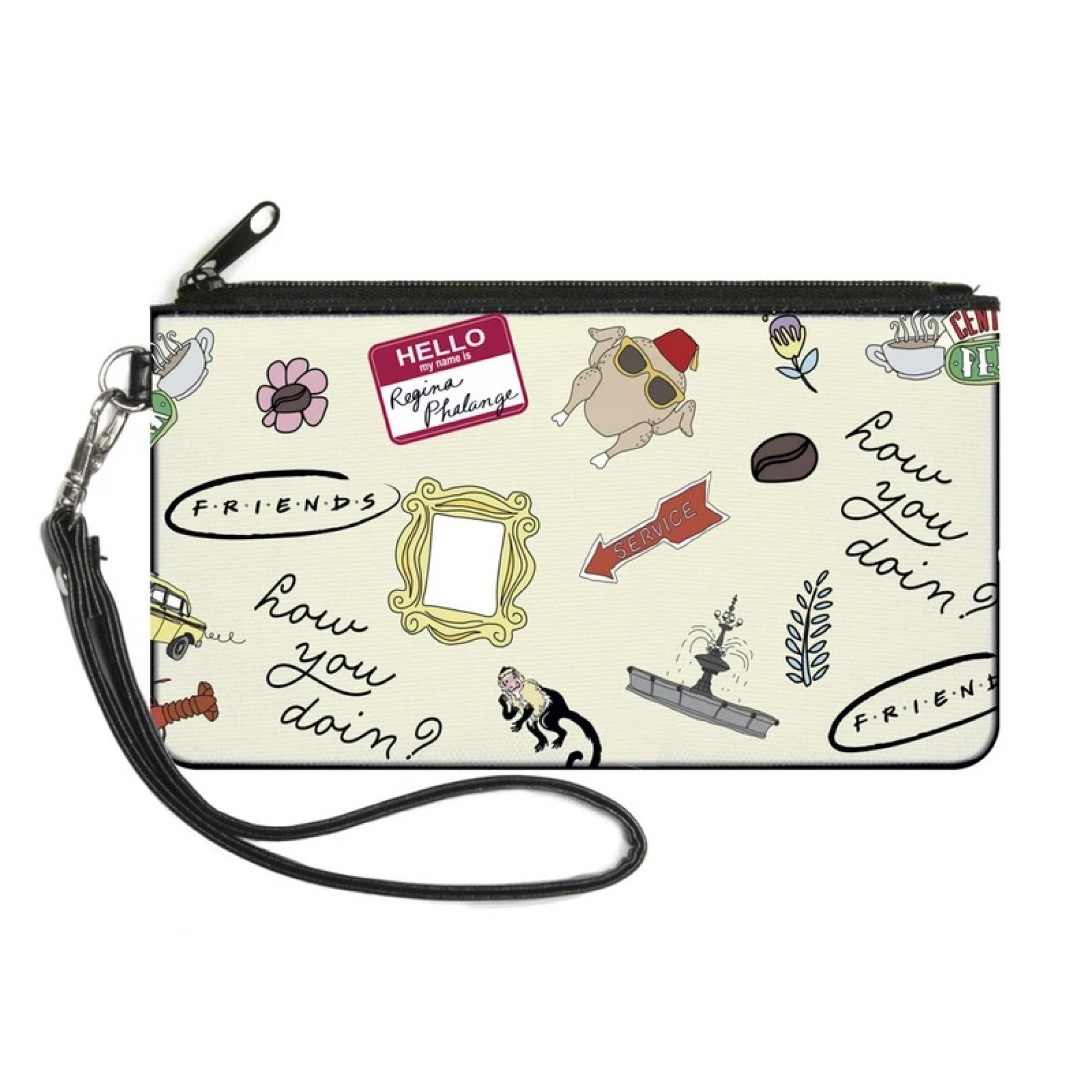 Friends Icons Zipper Wallet