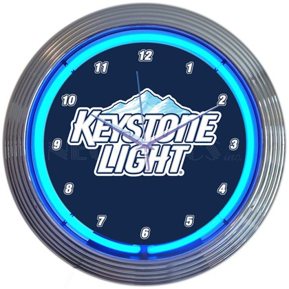 Keystone Light Neon Clock