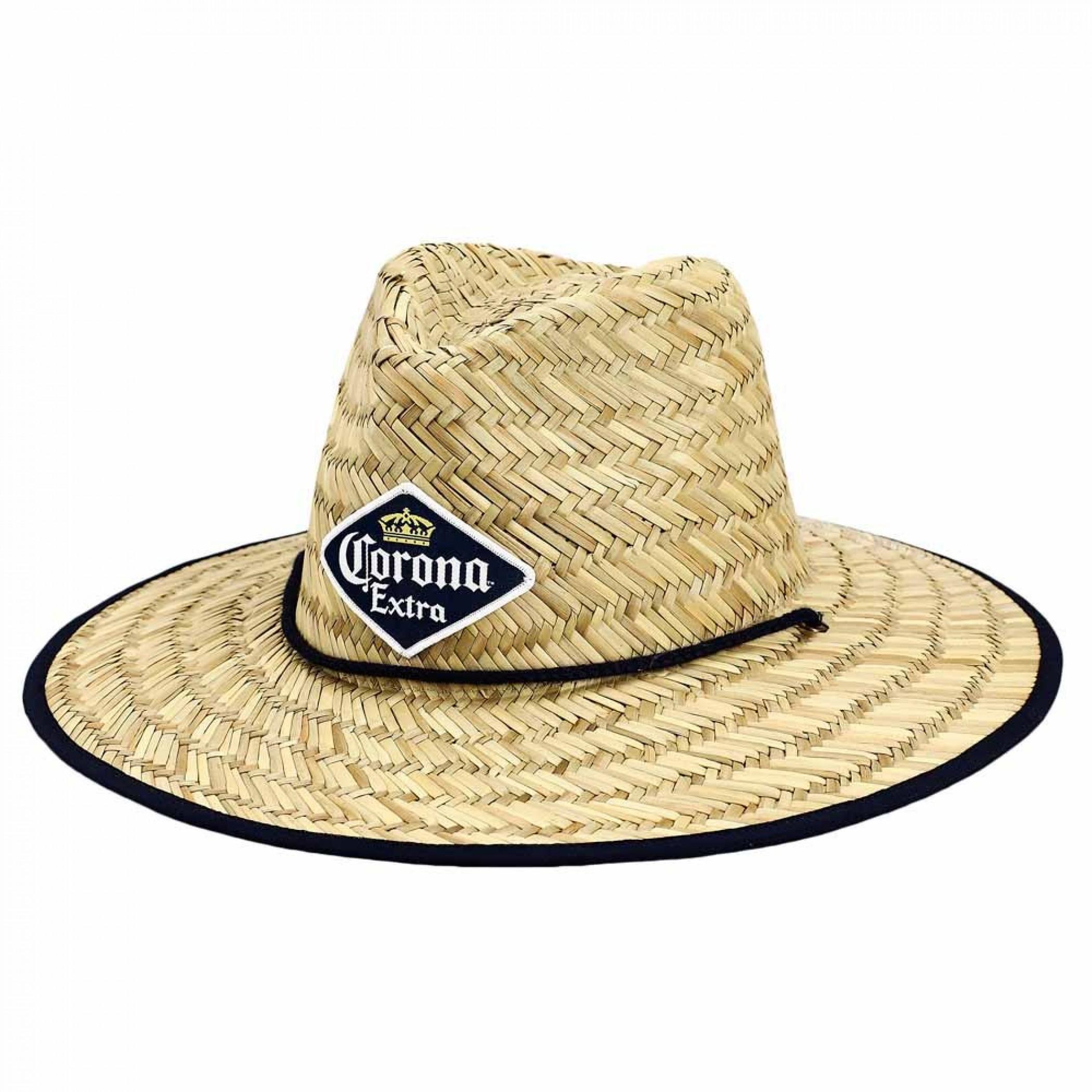 Corona Extra Patch Straw Lifeguard Beach Sun Hat