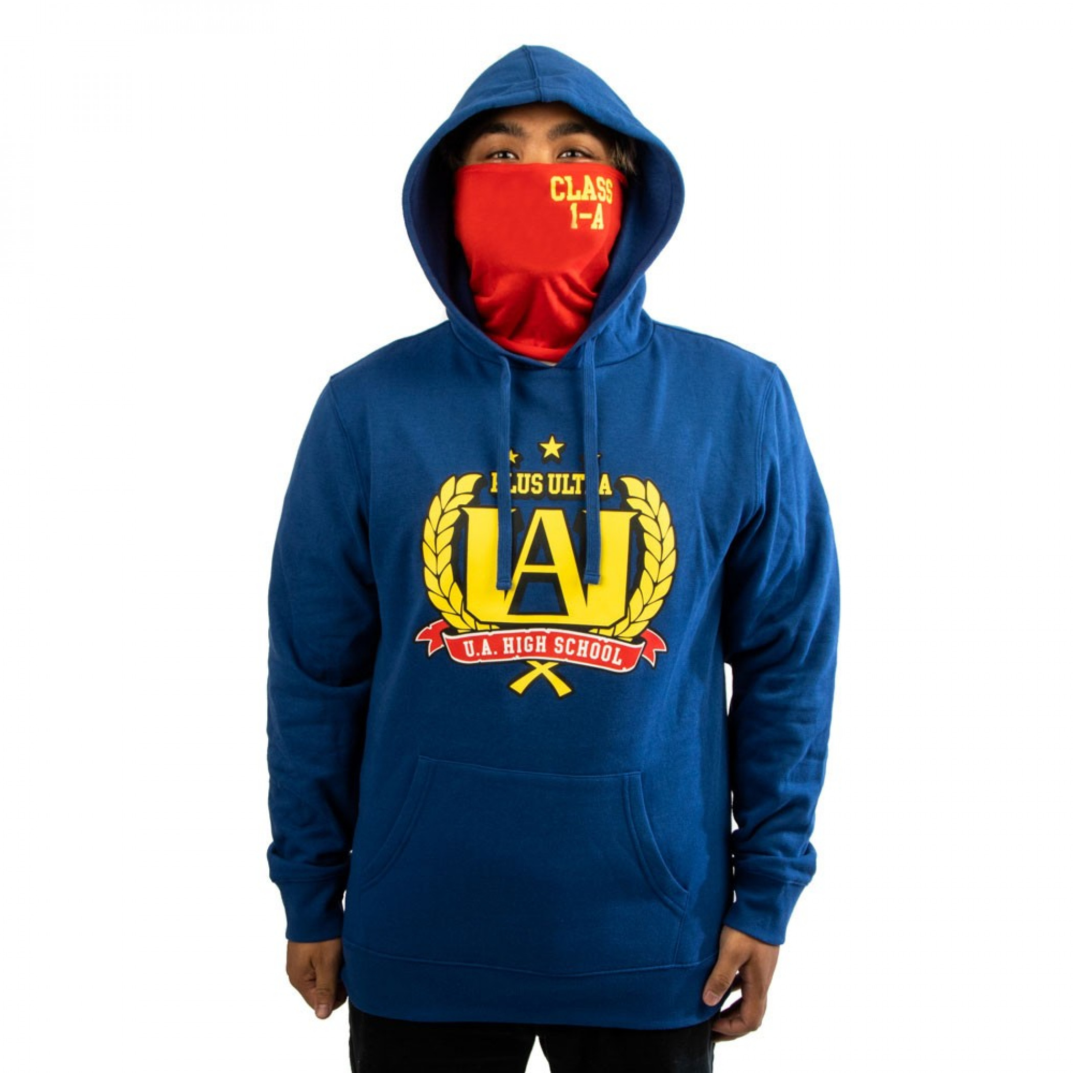 My Hero Academia Crest Hoodie with Built-in Face Mask Gaiter