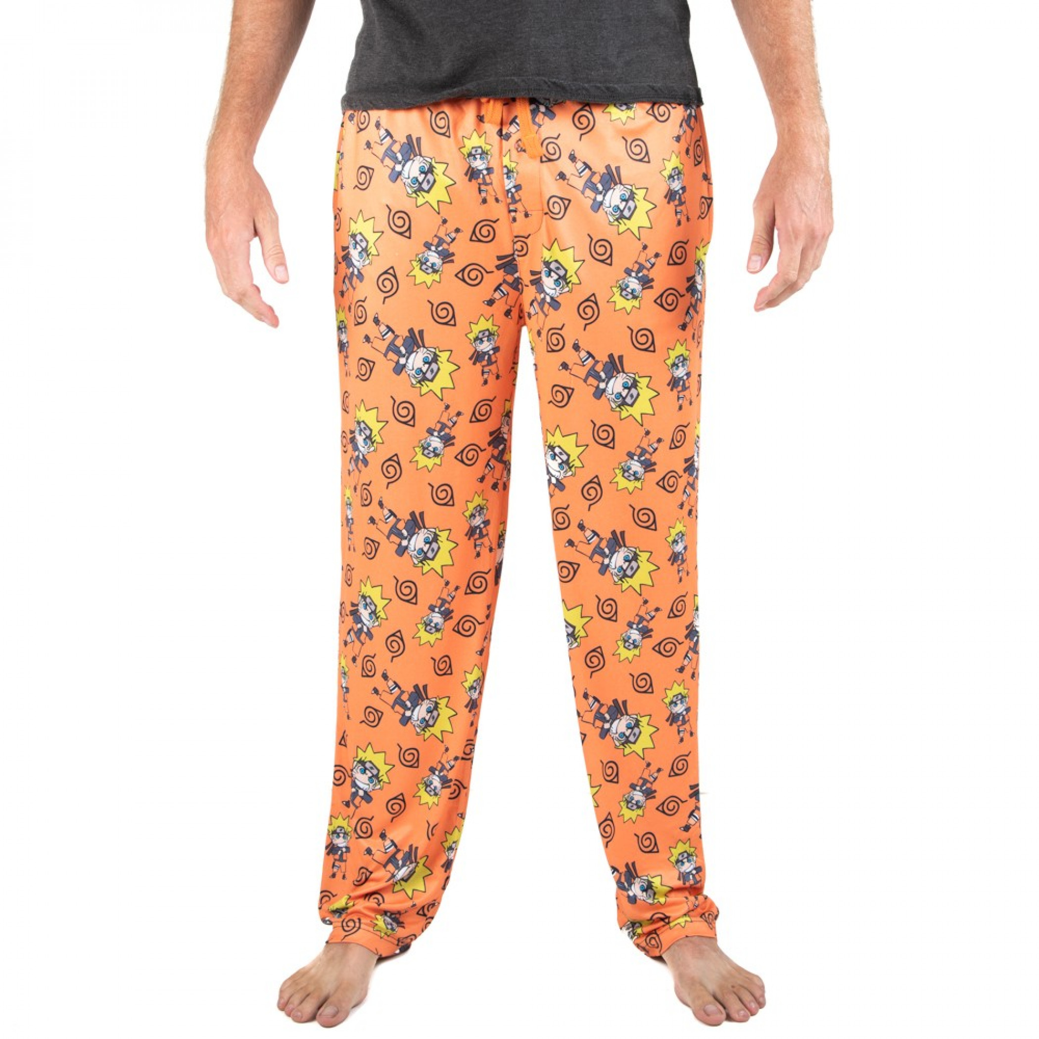 Naruto Character and Symbols All Over Print Sleep Pants