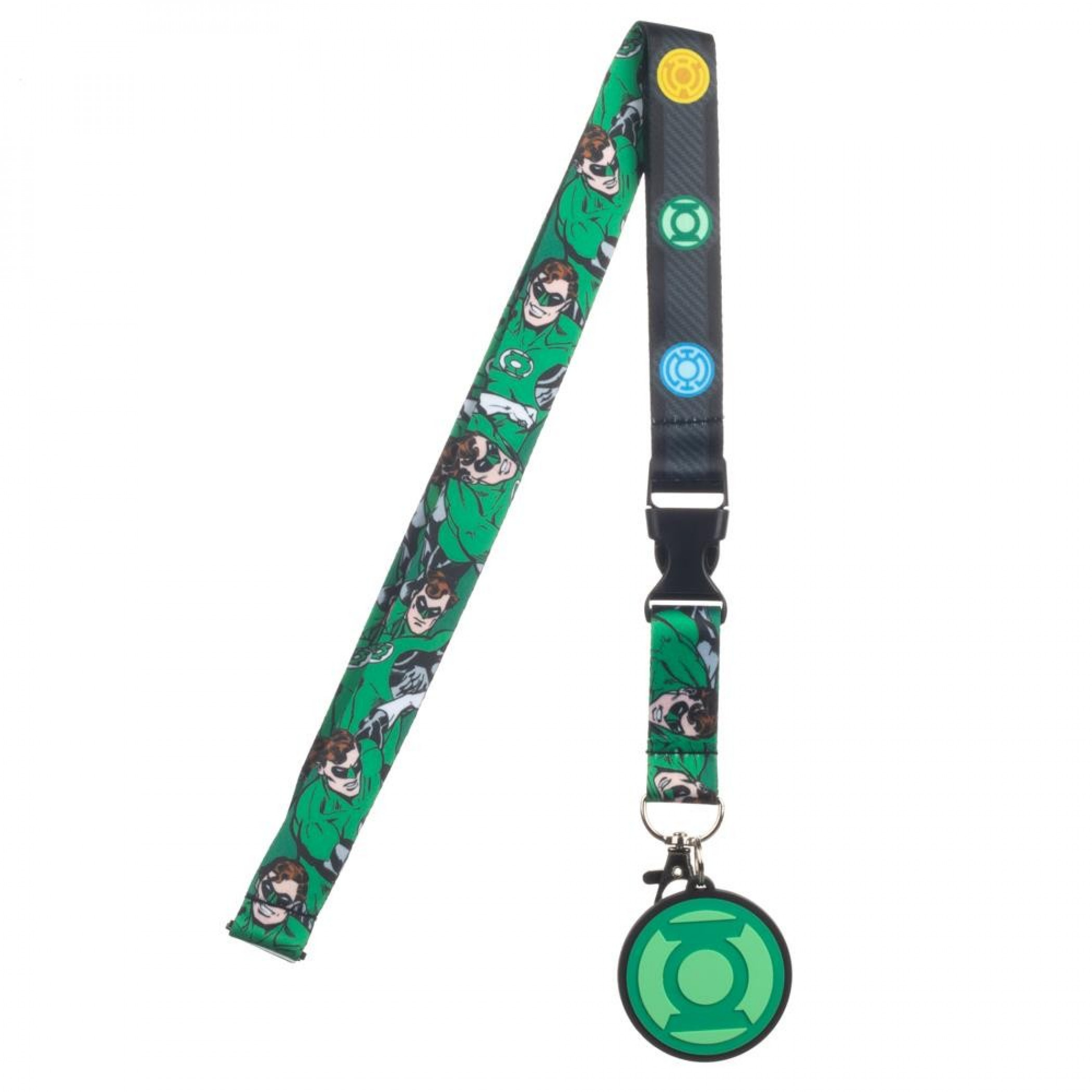 Green Lantern All Corps Symbols Lanyard with Charm and Sticker