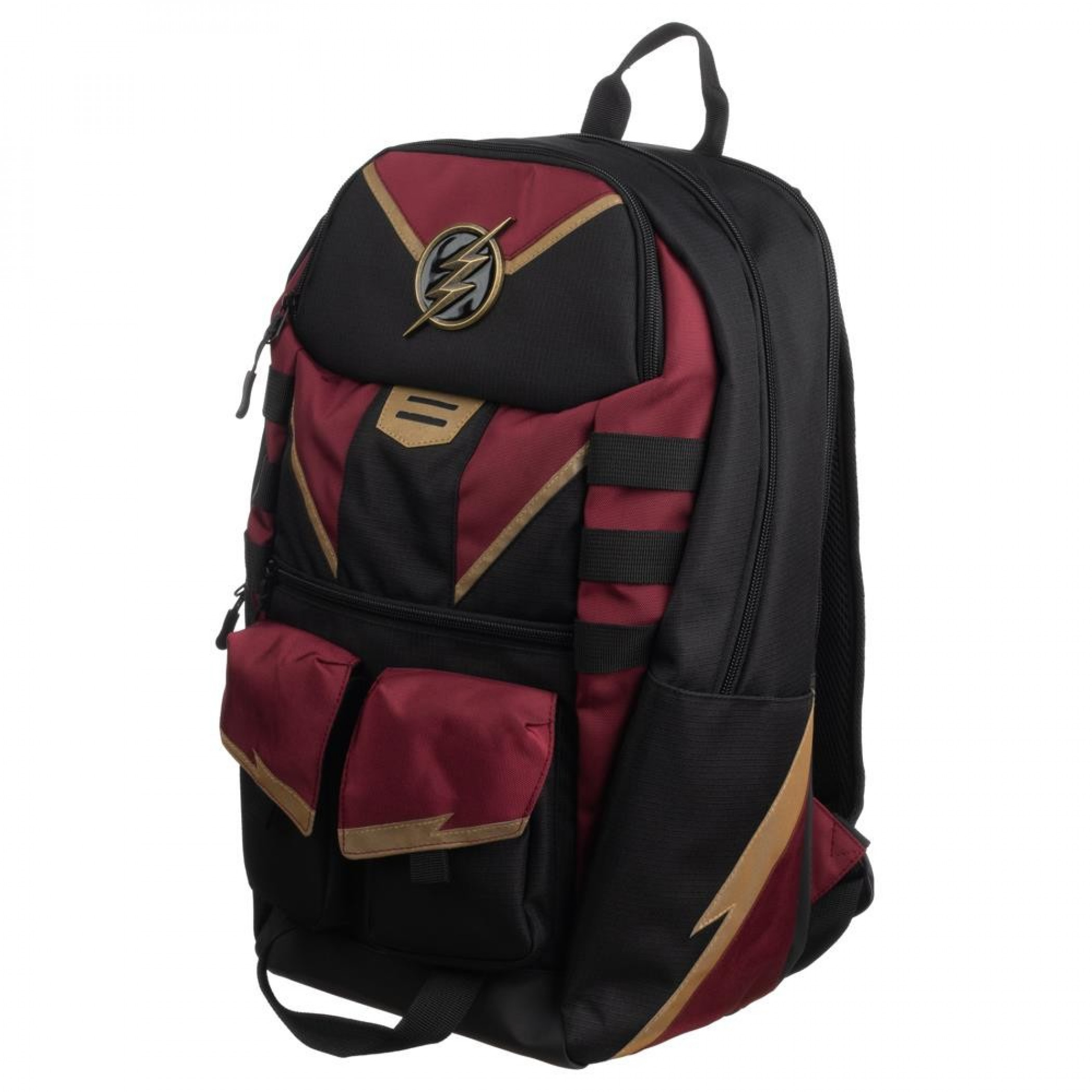 The Flash Black and Maroon Backpack