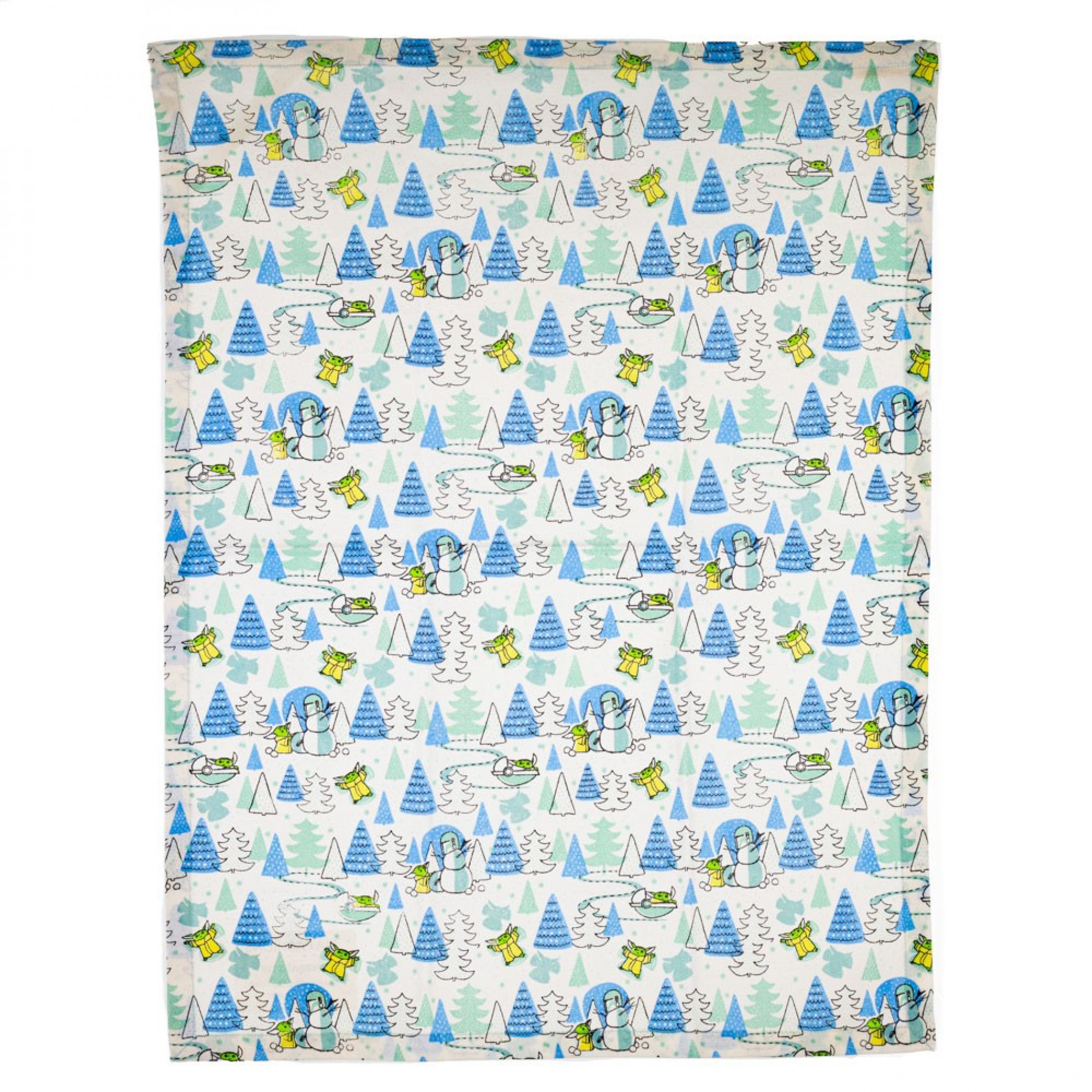 Star Wars Mandalorian The Child Character and Trees All Over Tea Towel