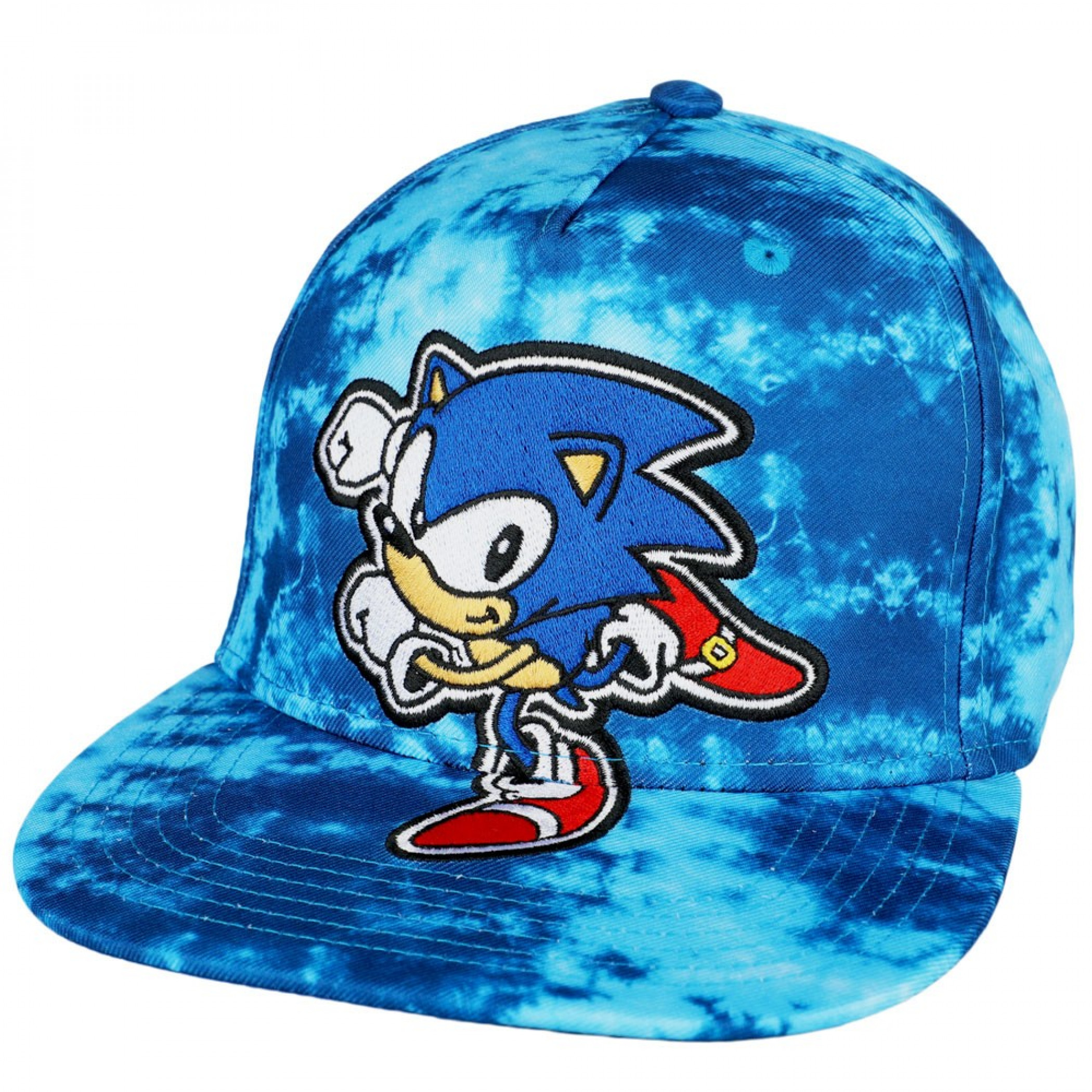 Sonic The Hedgehog Youth Tie Dye Pre-Curved Bill Snapback Hat