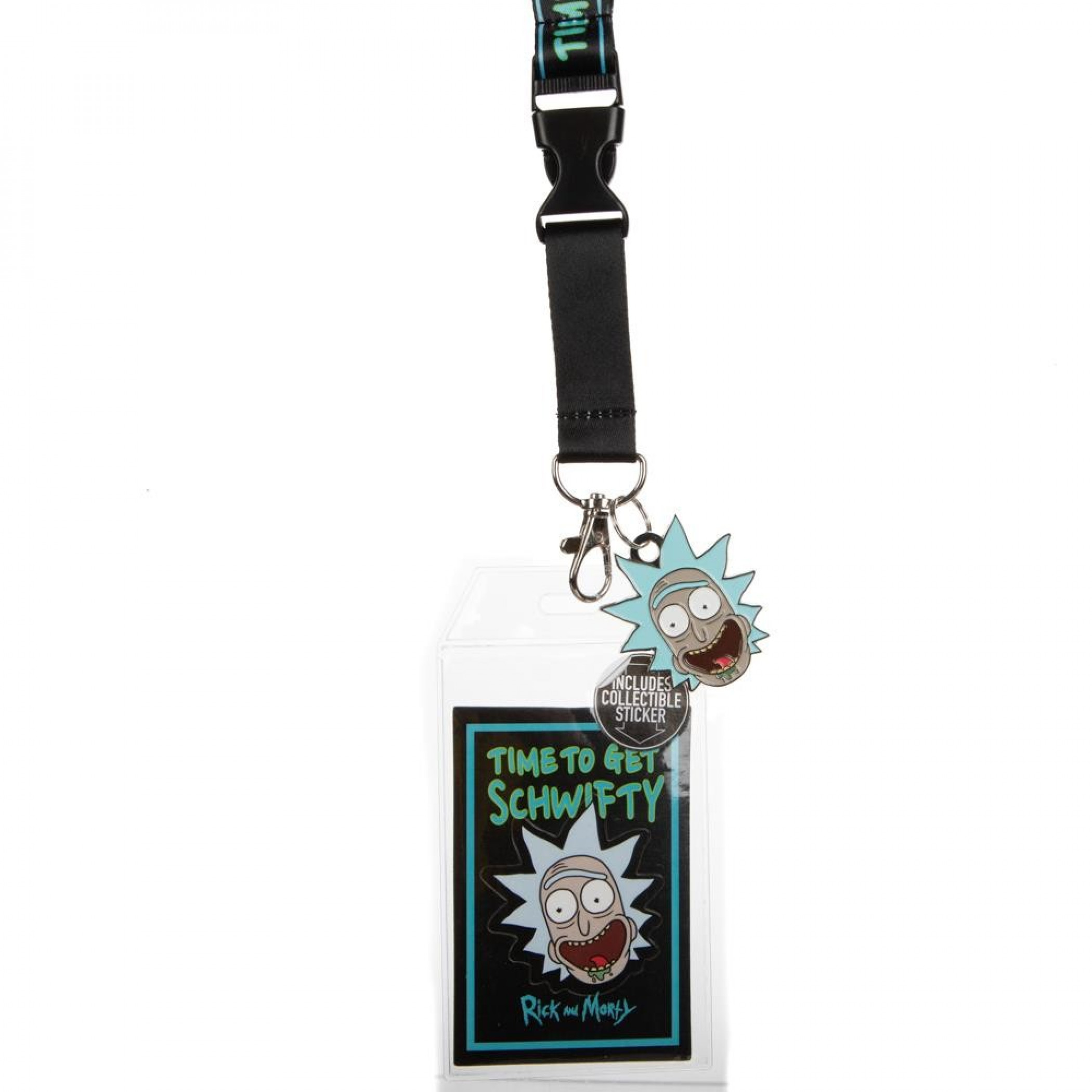 Rick & Morty Time To Get Schwifty Taping Lanyard
