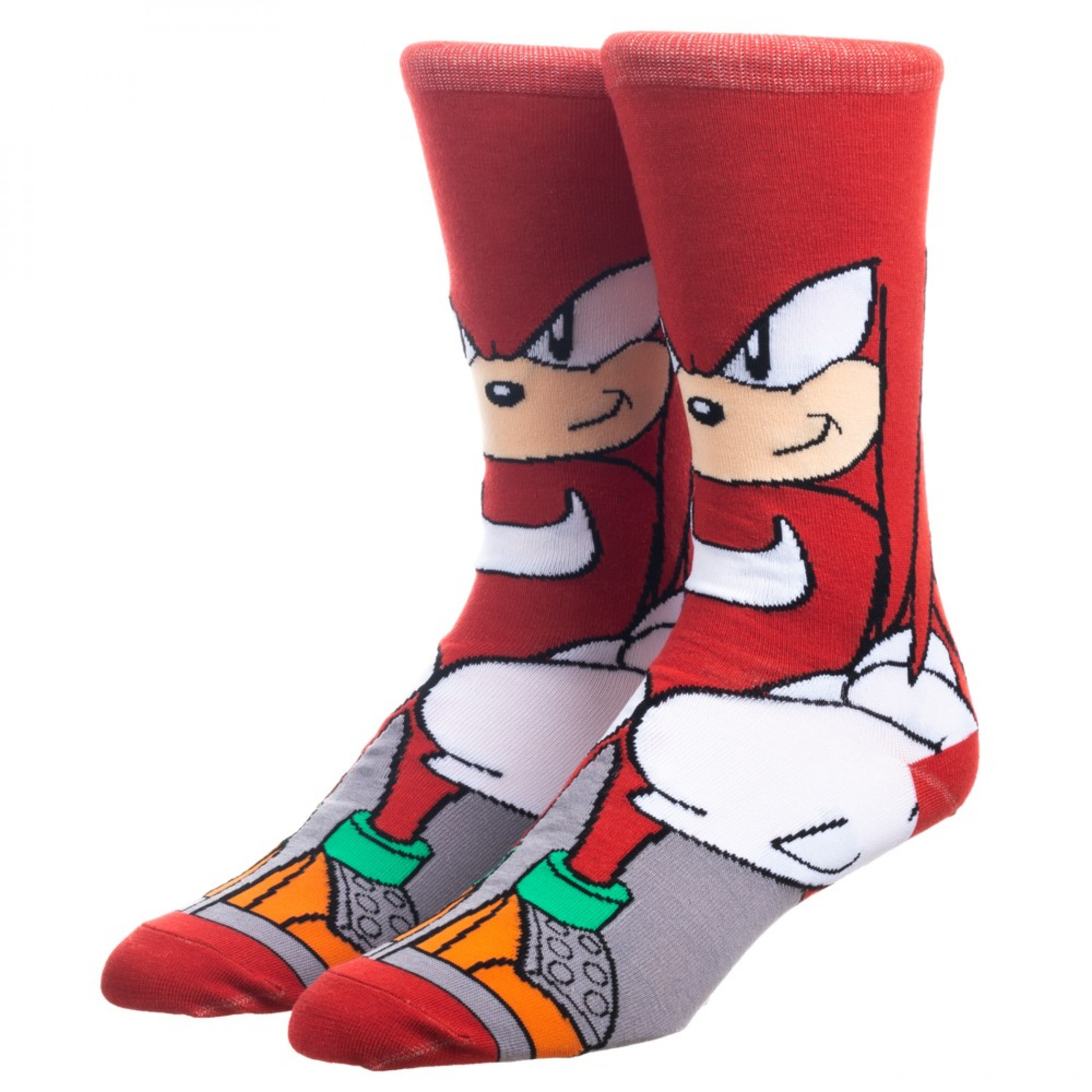 Knuckles from Sonic the Hedgehog Character Crew Socks