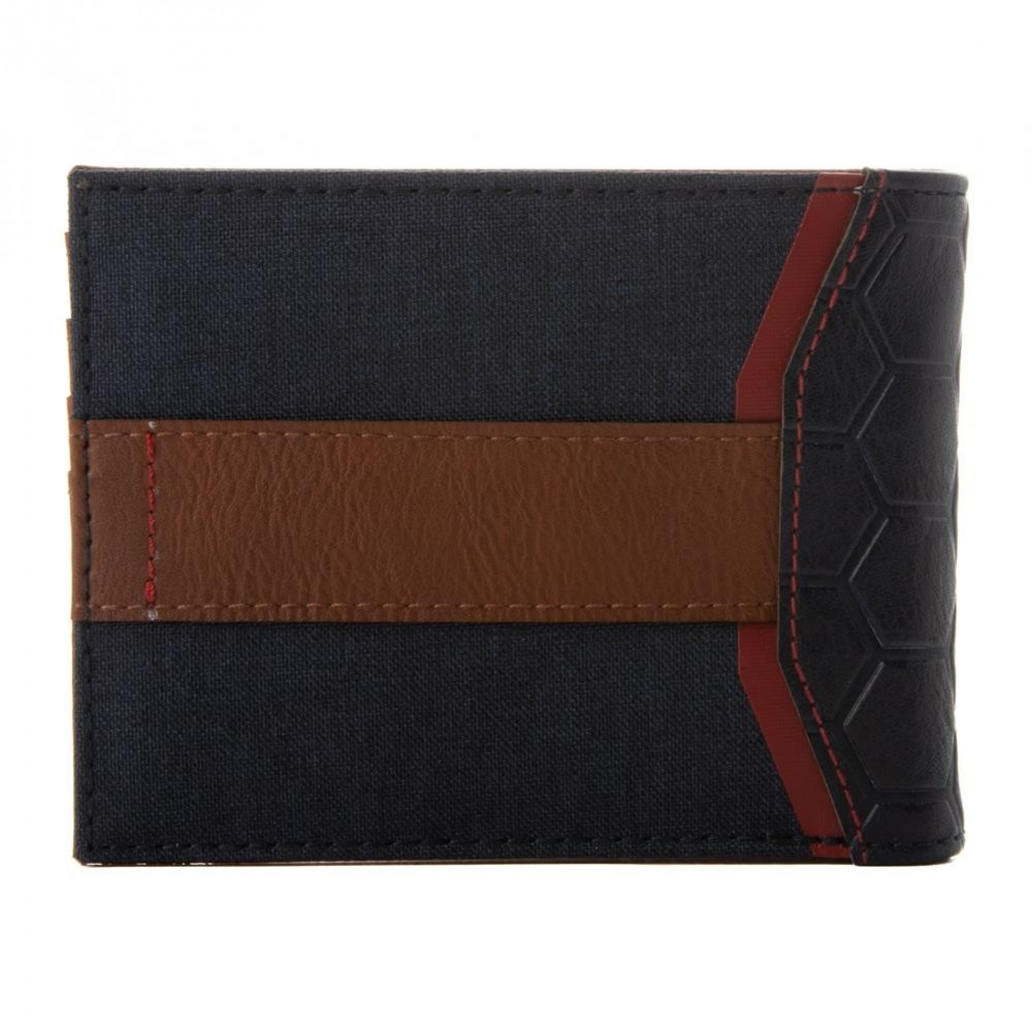 Captain America Mixed Material Bifold Wallet