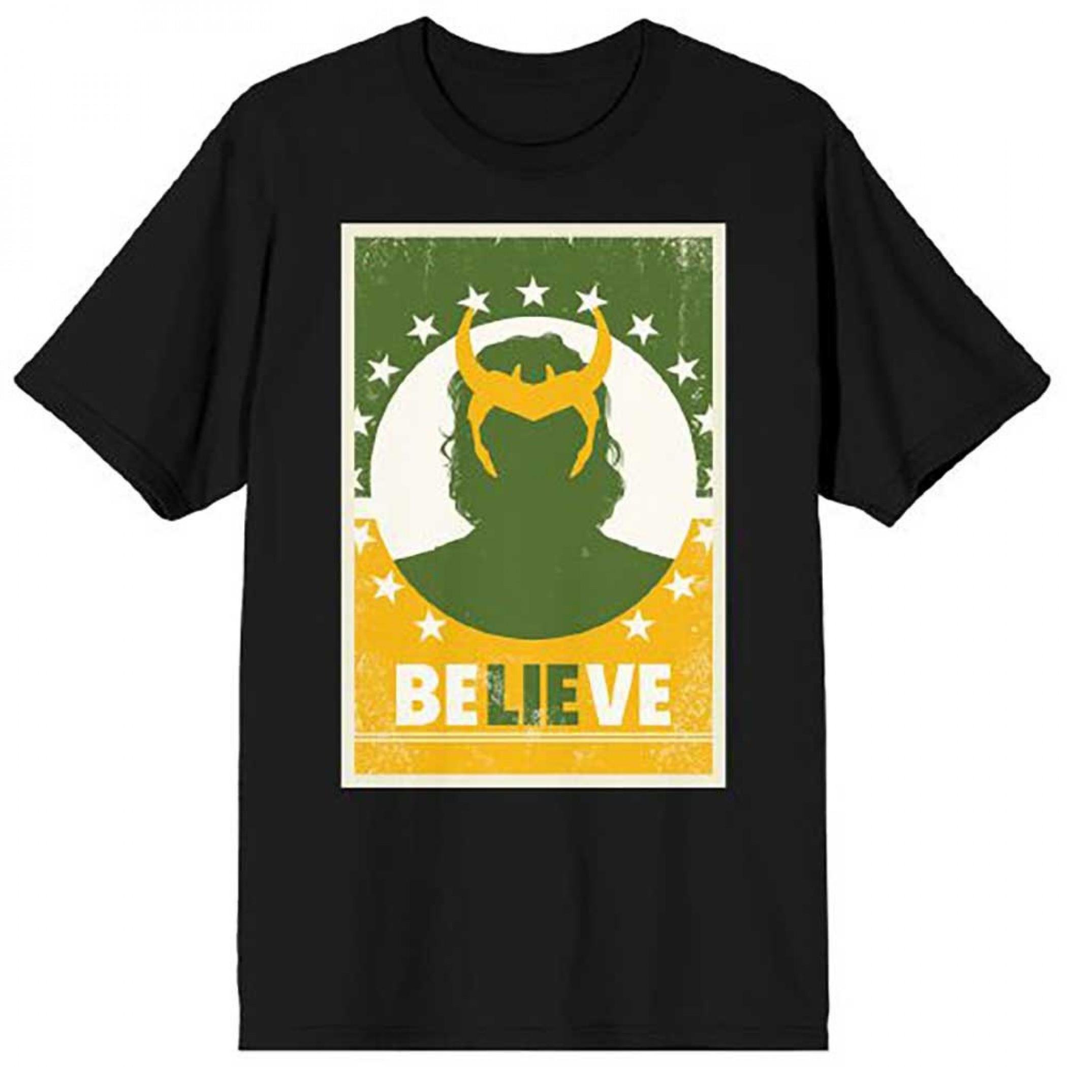 "Marvel Studios Loki Series Believe ""LIE"" T-Shirt"