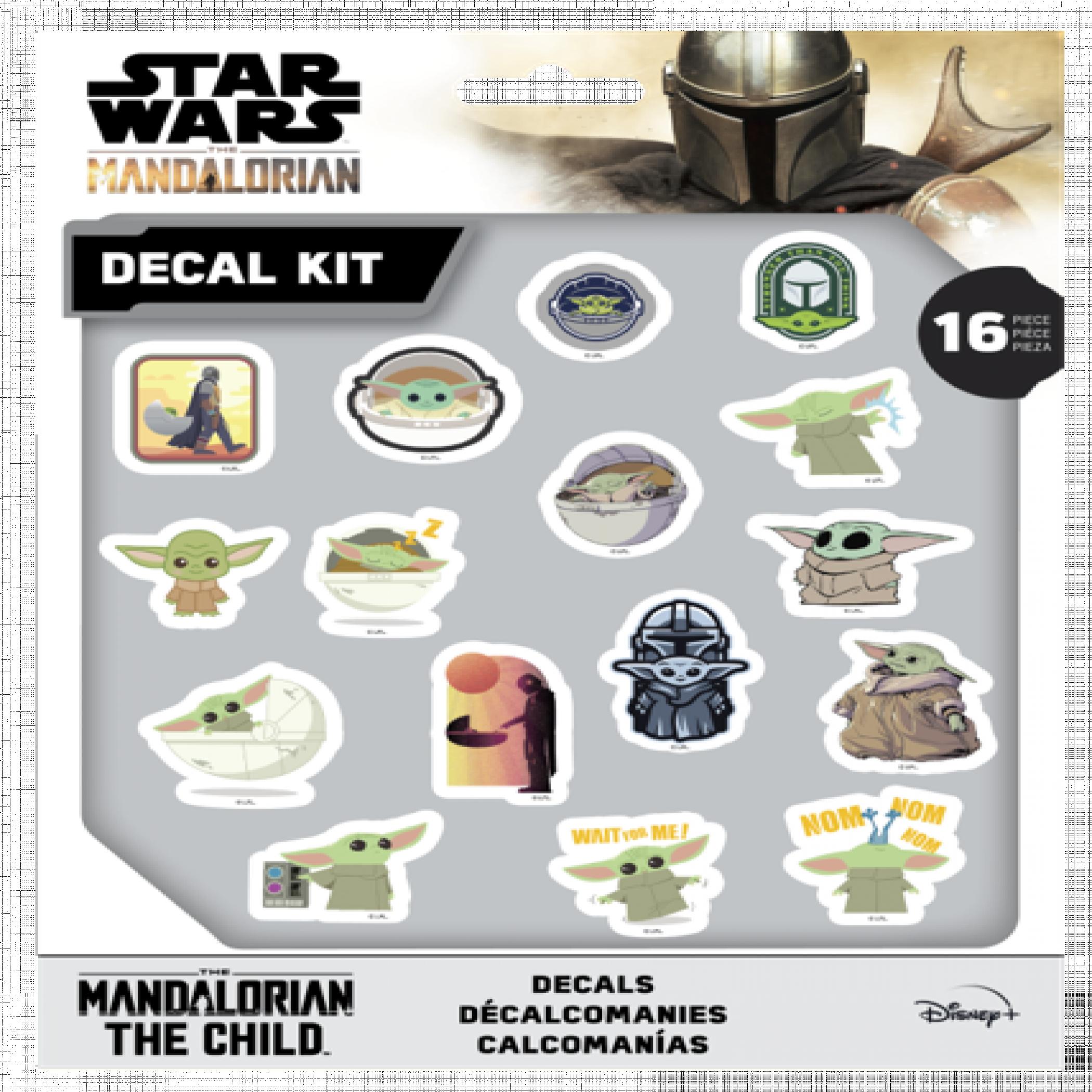 Star Wars The Mandalorian 16 Piece Decal Kit