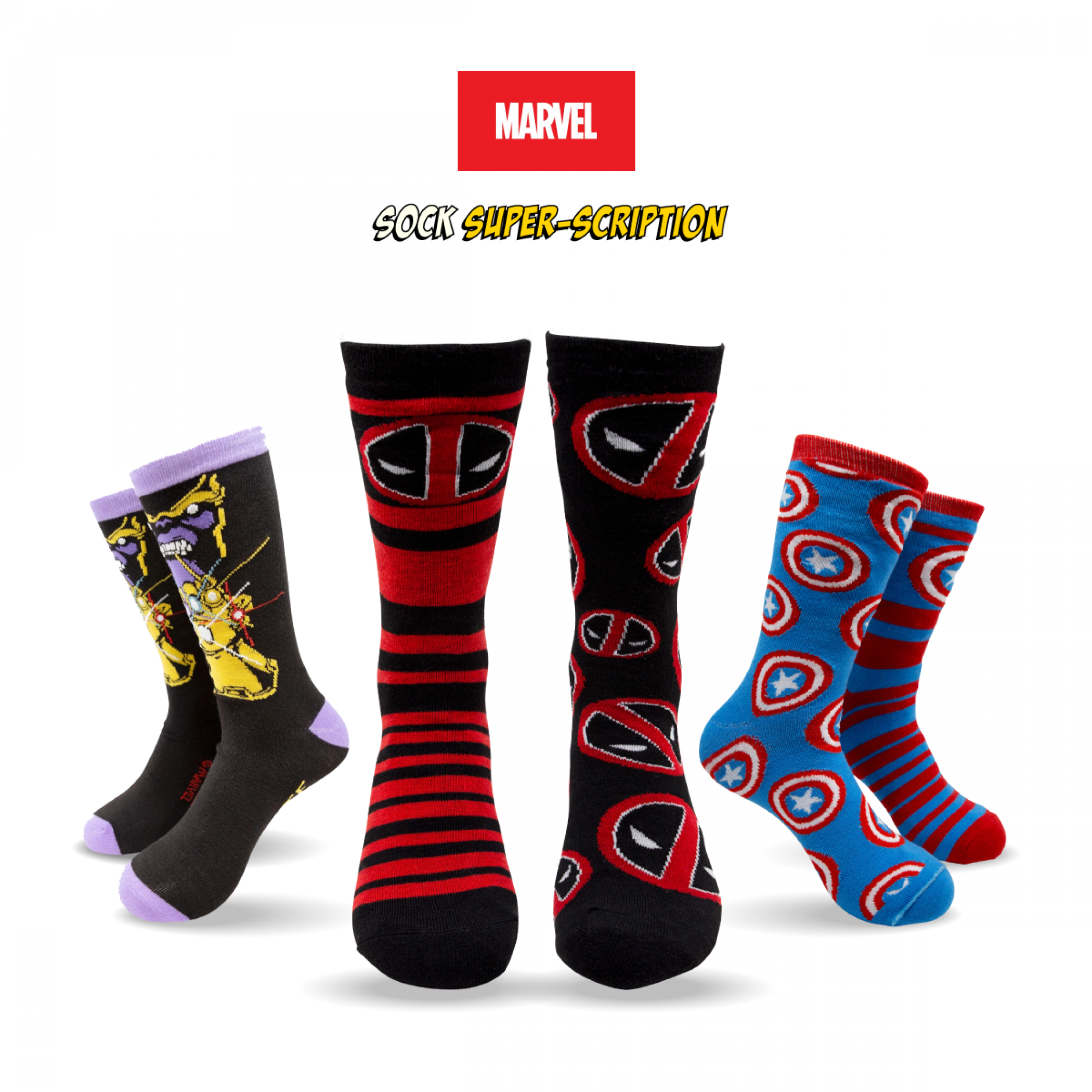 Marvel Sock Super-Scription