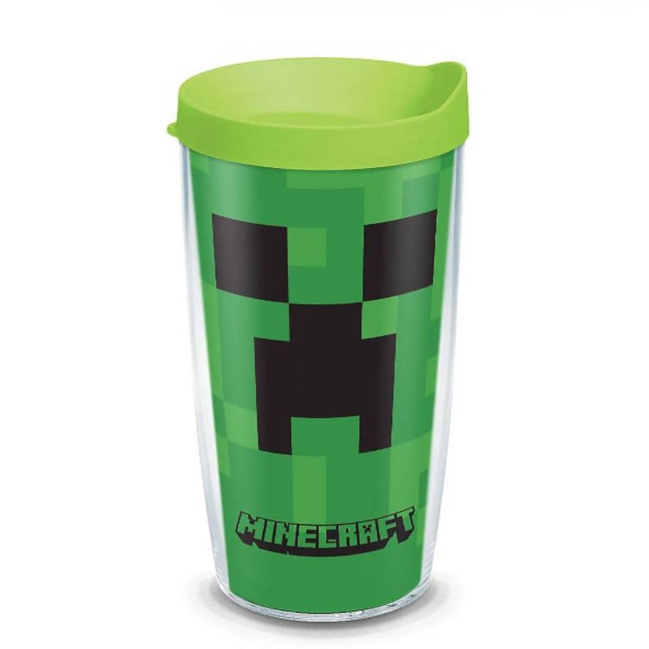 Minecraft Creeper Tervis® Plastic 16 oz Tumbler With Travel Lid