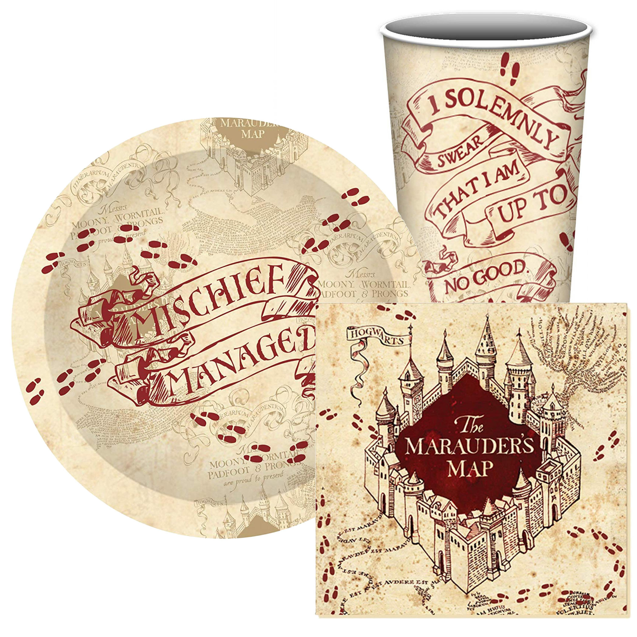 Harry Potter Mischief Managed 4pc 60cnt Paper Party Set