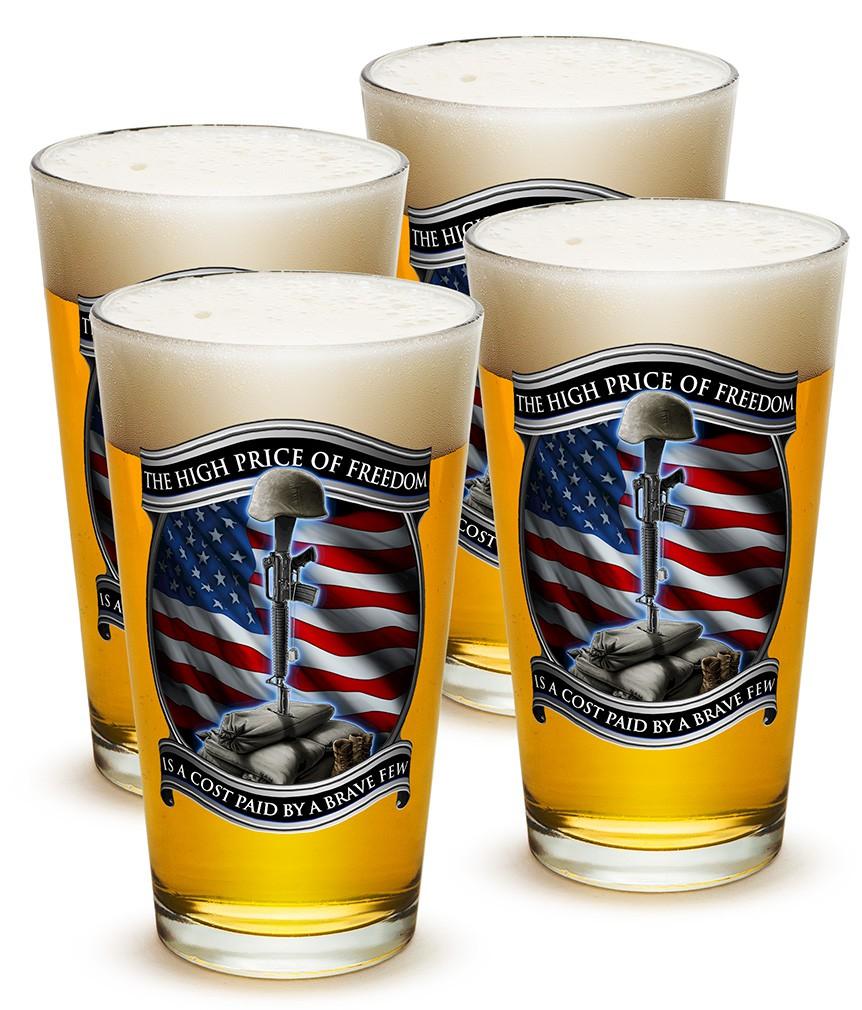 High Price Of Freedom Patriotic Beer Pints