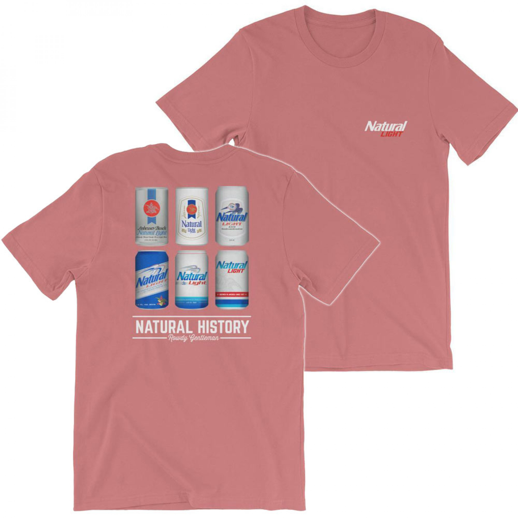 Natural Light Beer History Red Clay Men's Cotton T-Shirt