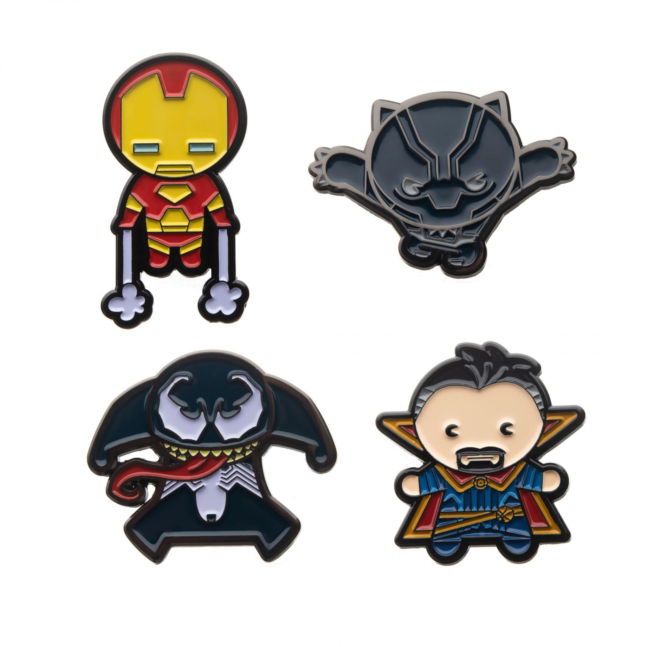 Marvel Kawaii Enamel Pin Set