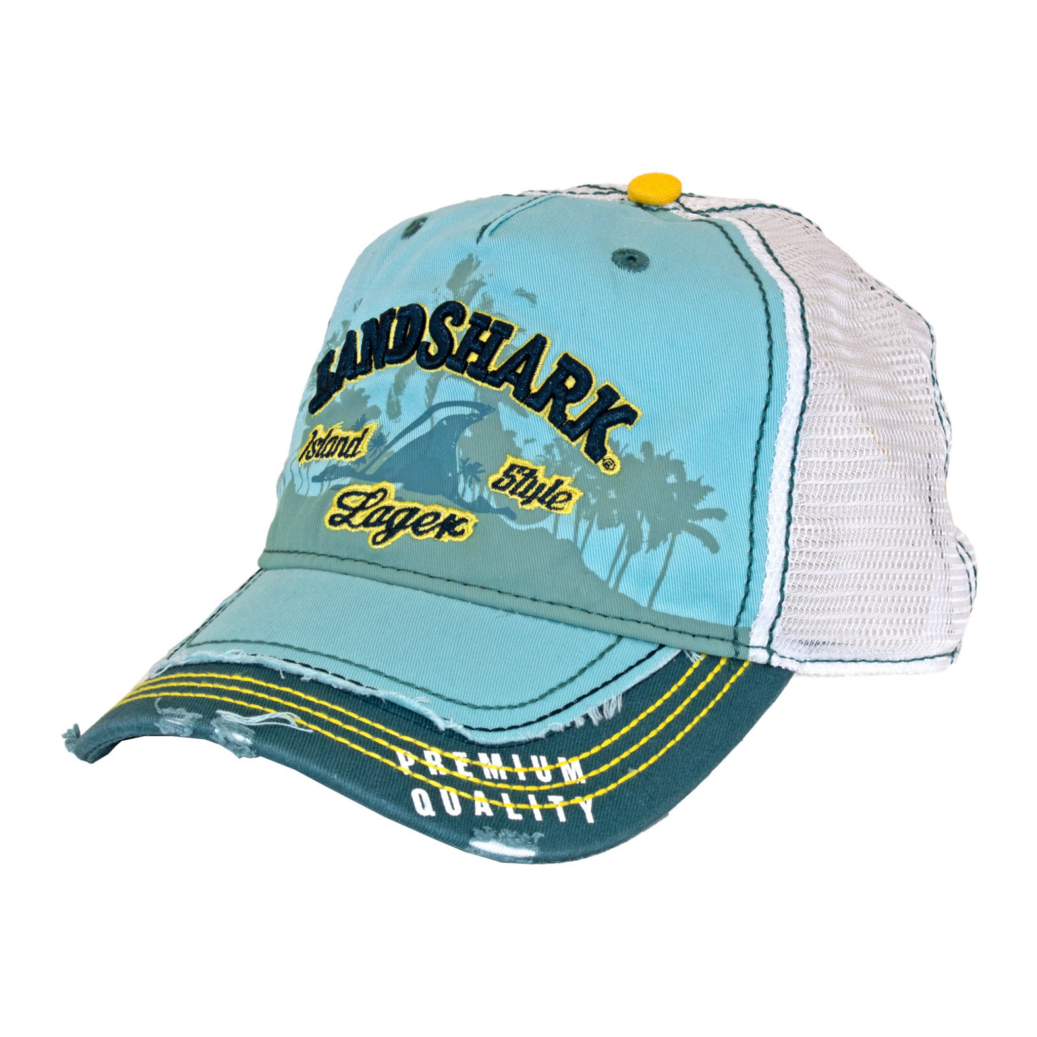 Landshark Heavy Stone Wash Mesh Trucker Hat