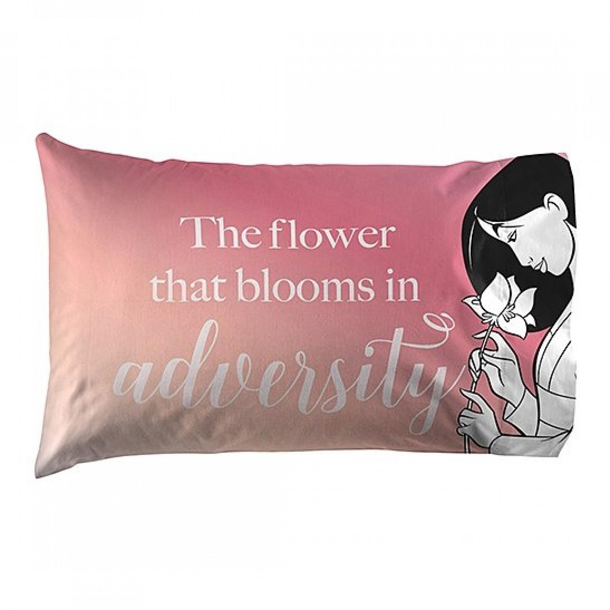Disney Mulan Blooming Flower 1Pack Reversible Pillowcase