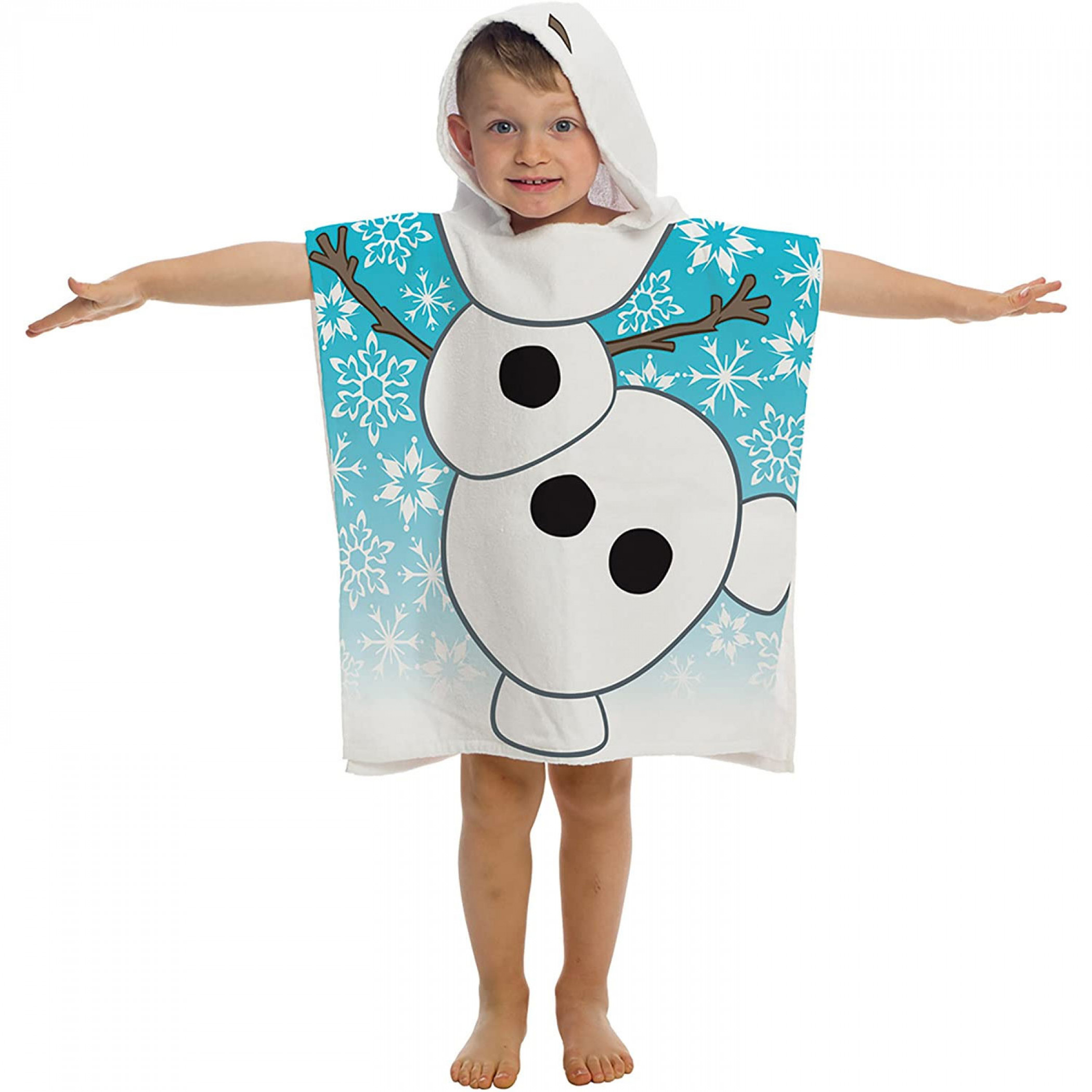 Frozen Olaf Youth Hooded Poncho Towel
