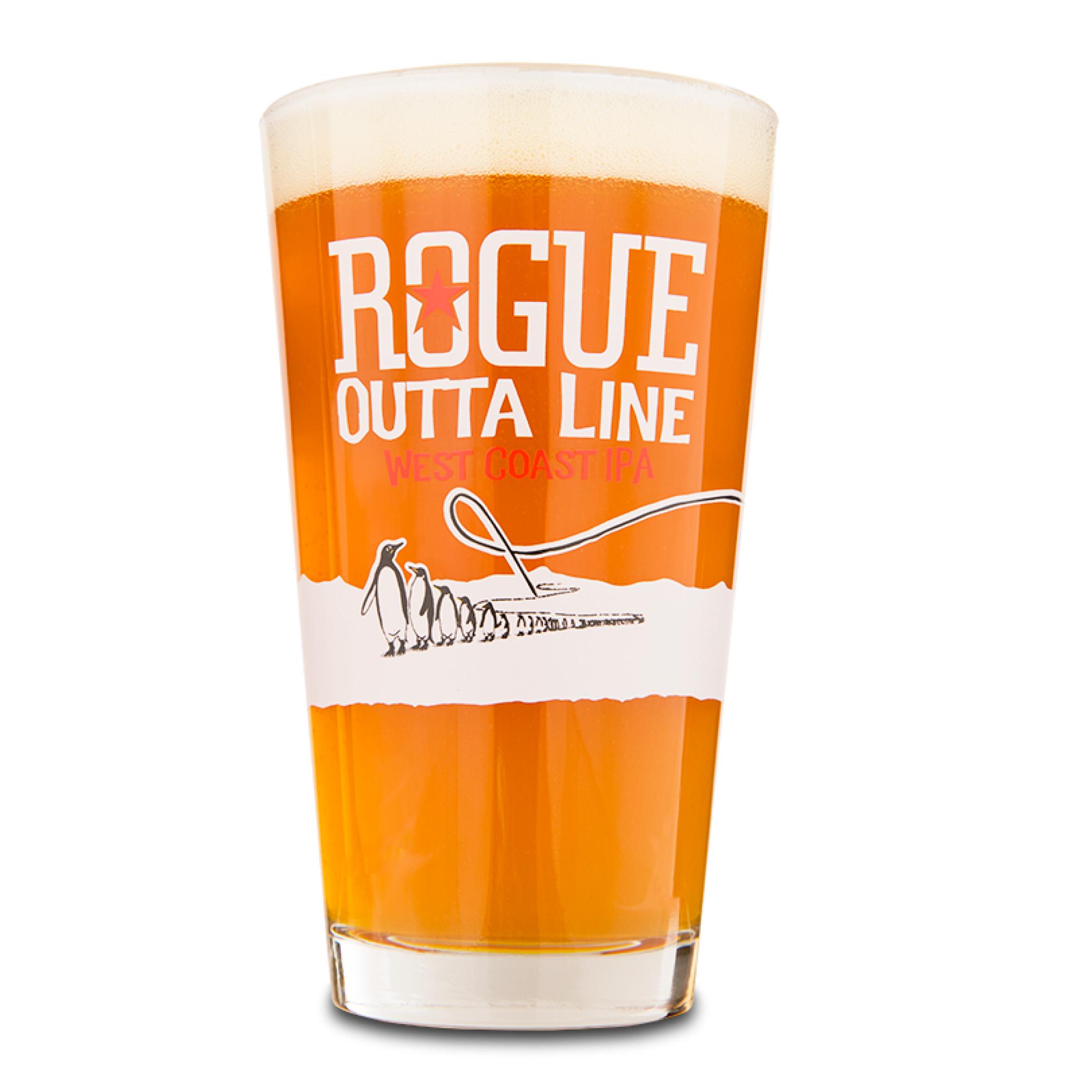 Rogue Outta Line Pint Glass