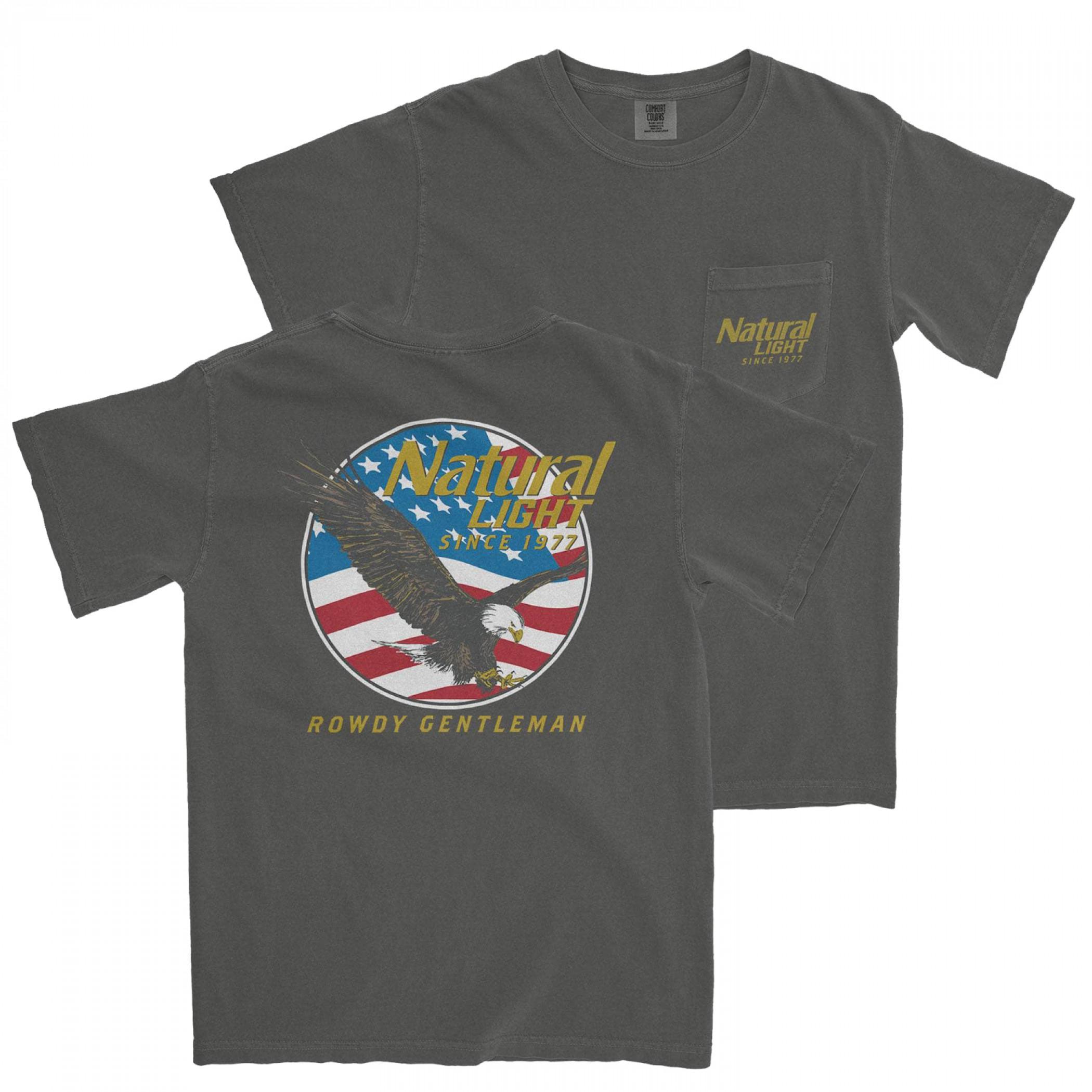 Natural Light Since 1977 Rowdy Gentleman Pocket T-Shirt