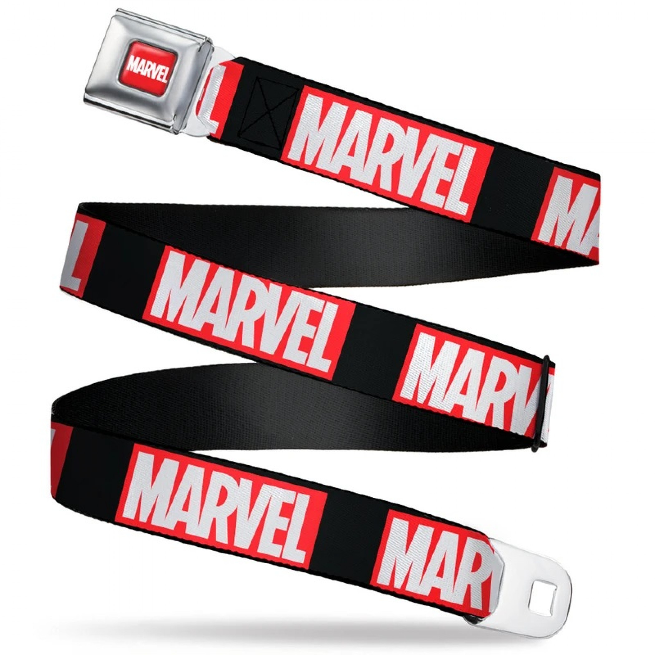 Marvel Logo Seatbelt Buckle Belt