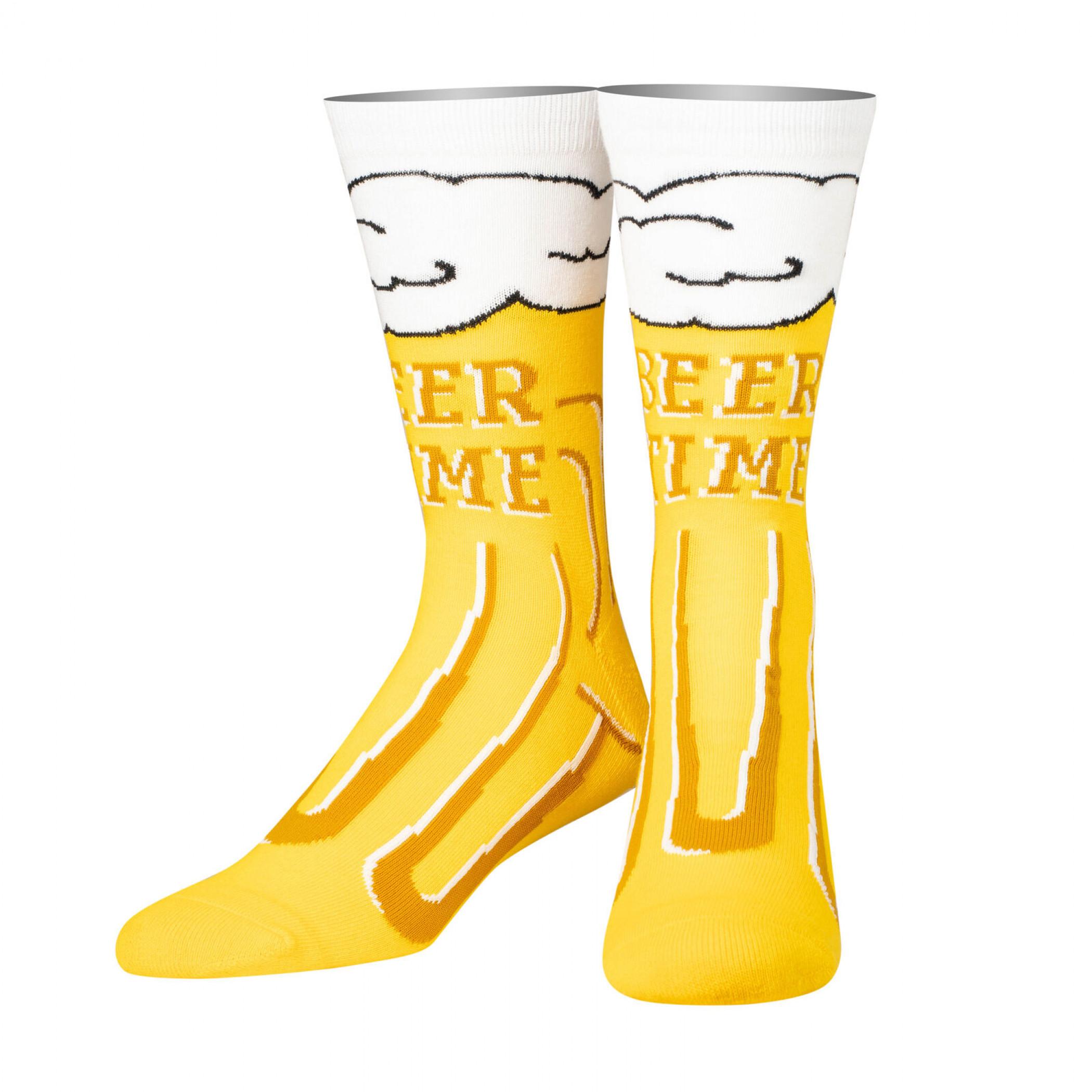 Beer Time Crew Socks