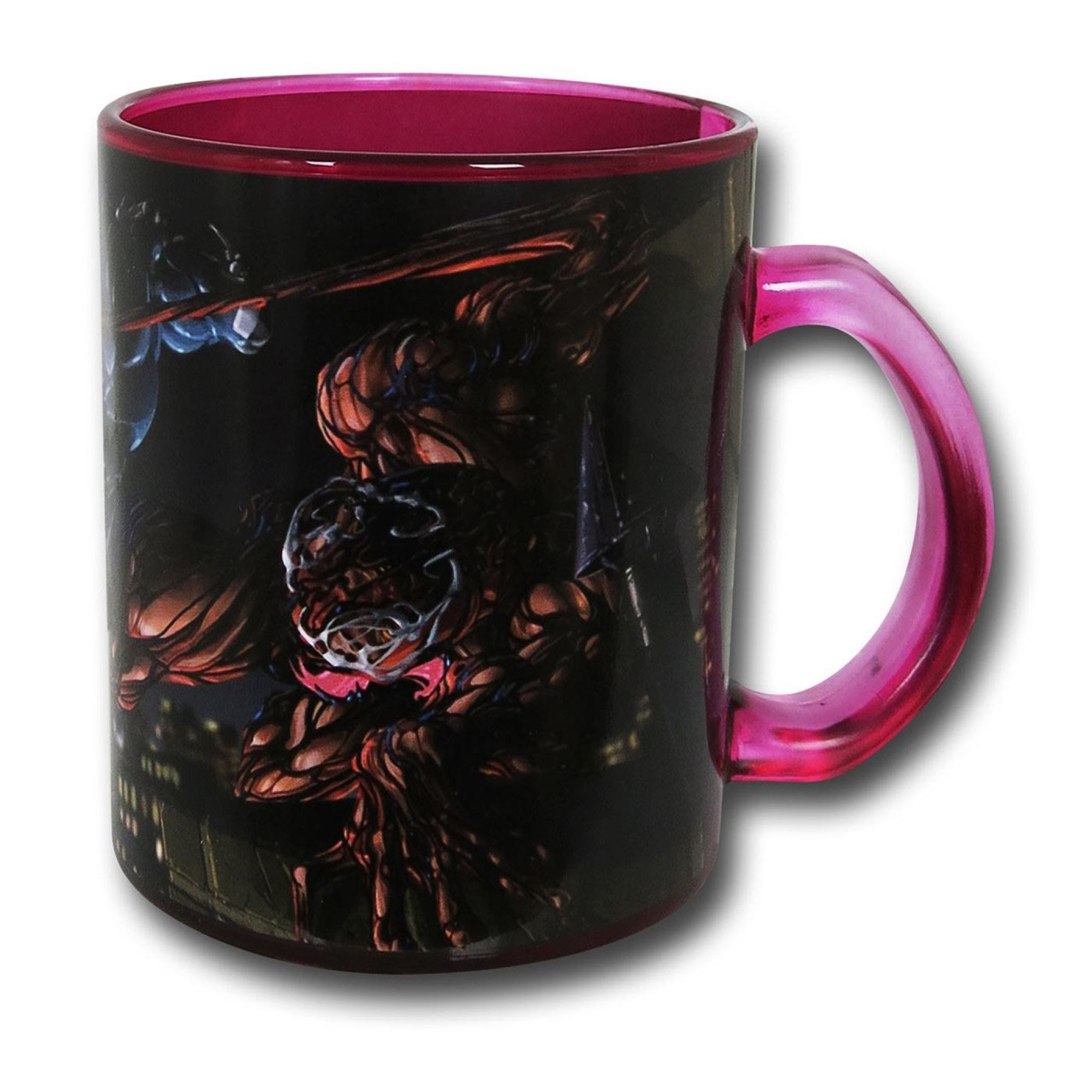 Venom Vs Carnage Glass Coffee Mug