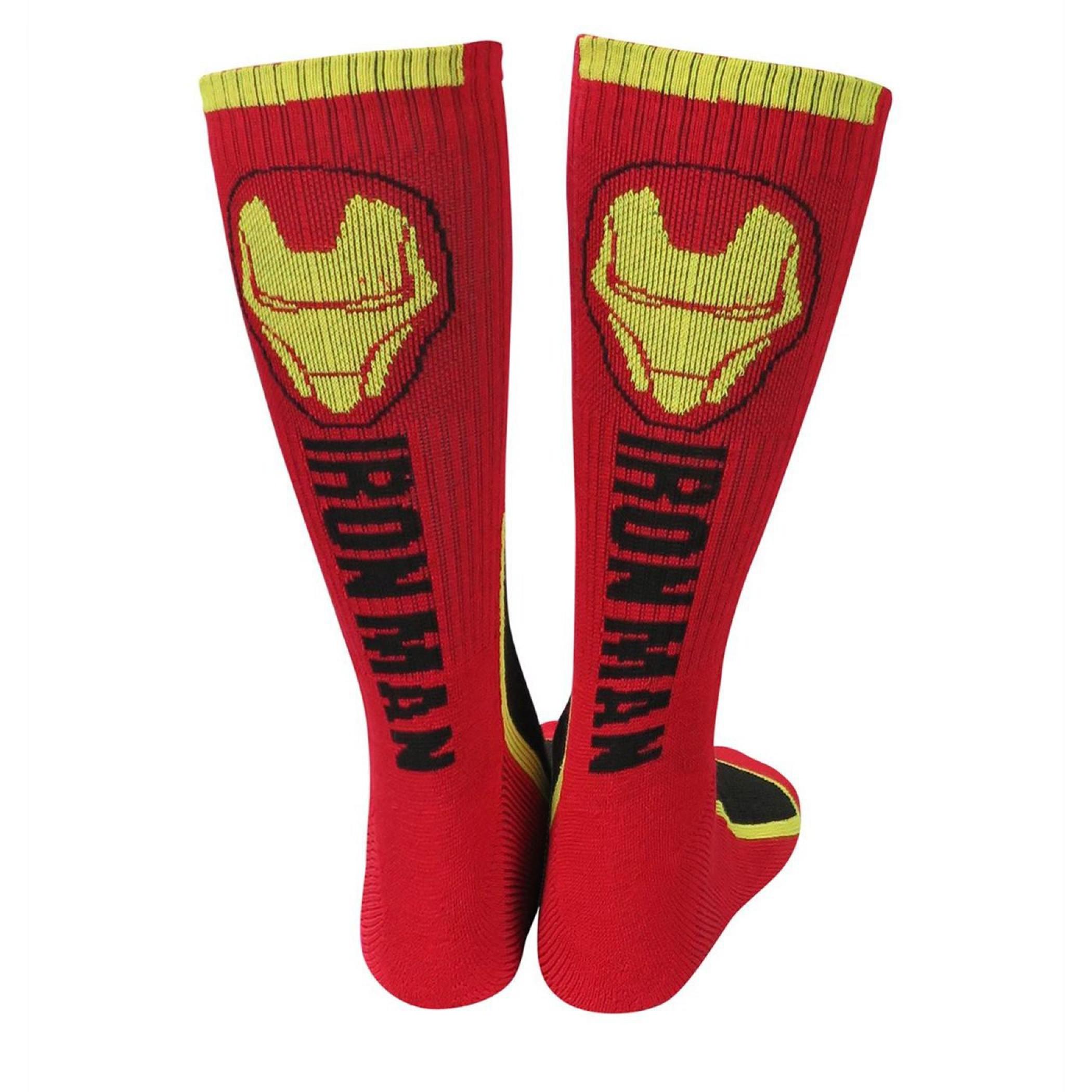 Iron Man Helmet and Stark Industries Crew Socks 2-Pair Pack