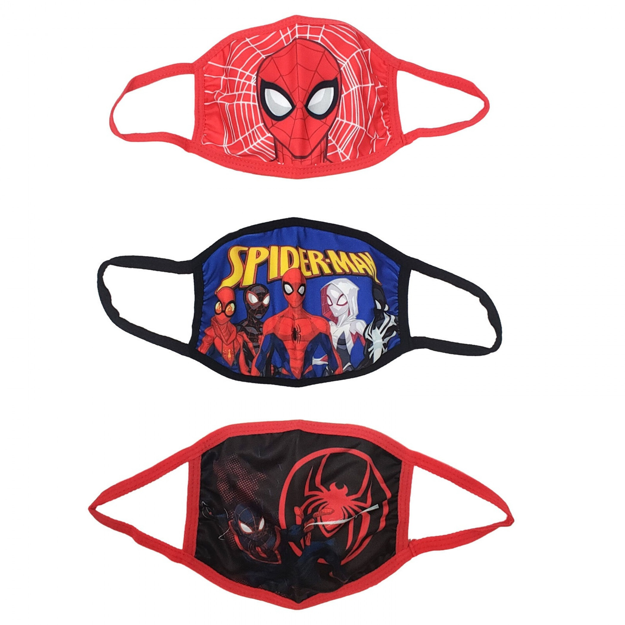 Spider-Man and Miles Morales Team Characters 3-Pack of Kids Face Masks
