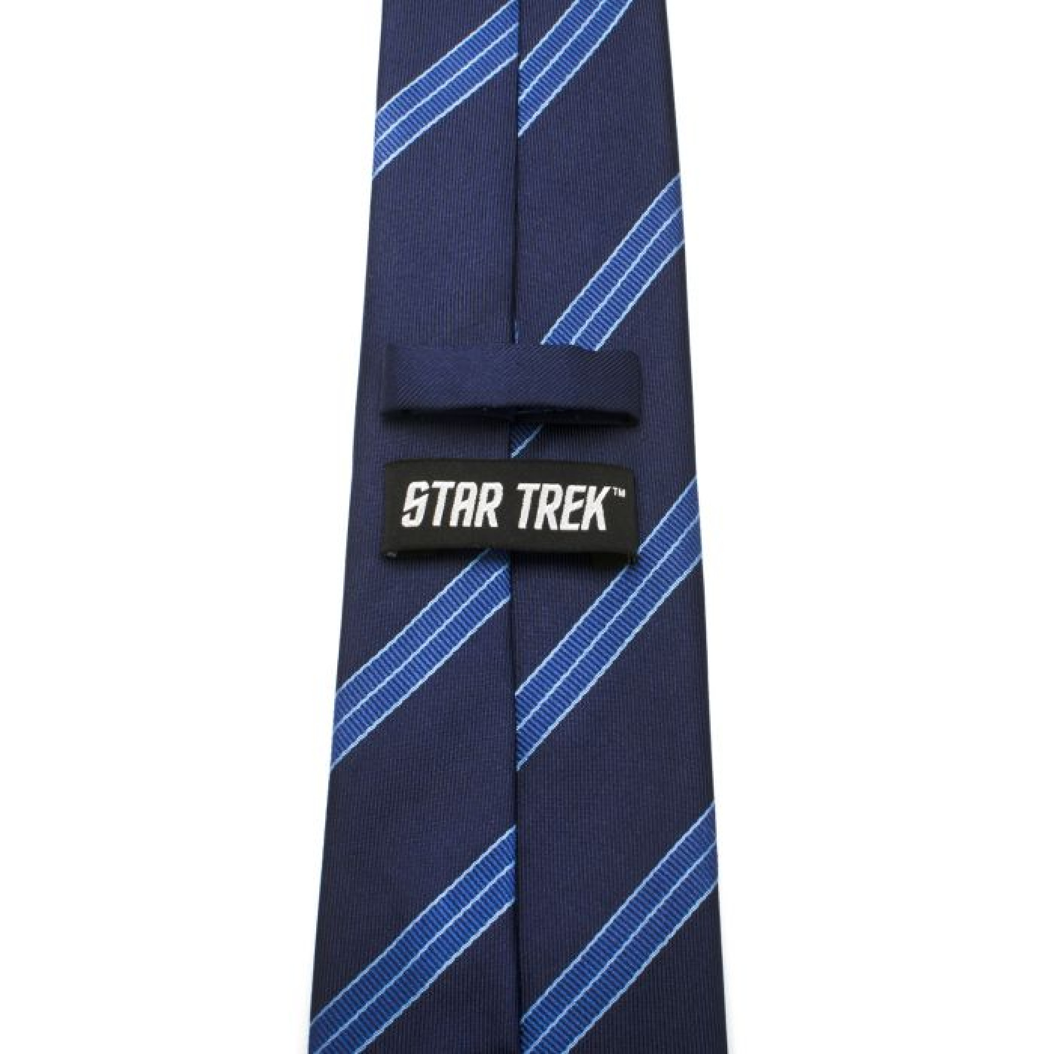 Star Trek Enterprise Flight Blue Stripe Men's Silk Tie