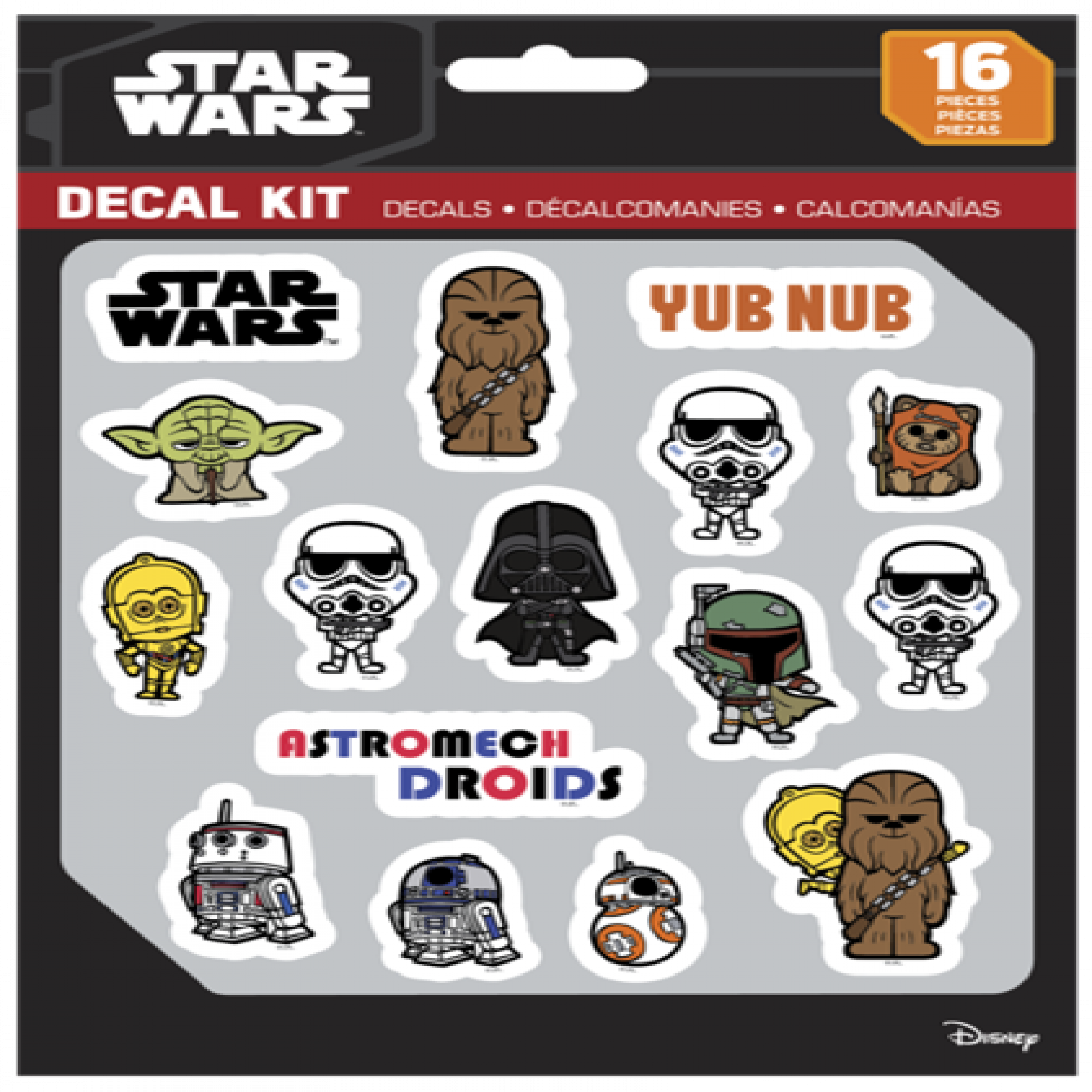 Star Wars Classic 16 Piece Decal Kit