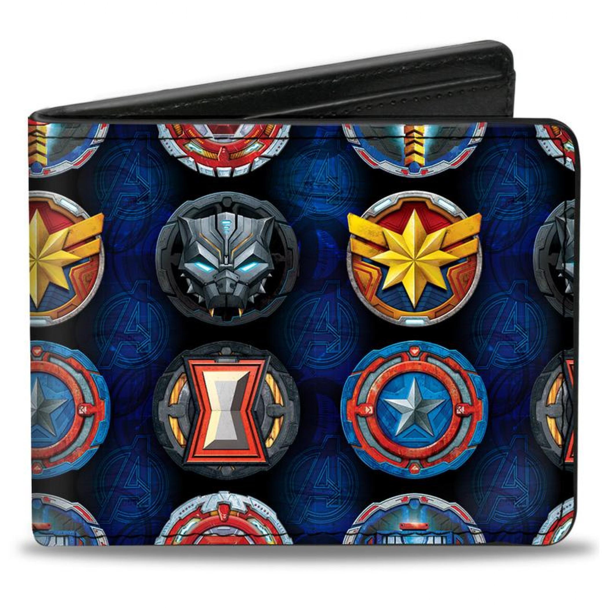 Marvel Avengers Mech Strike Logos Bi-Fold Wallet
