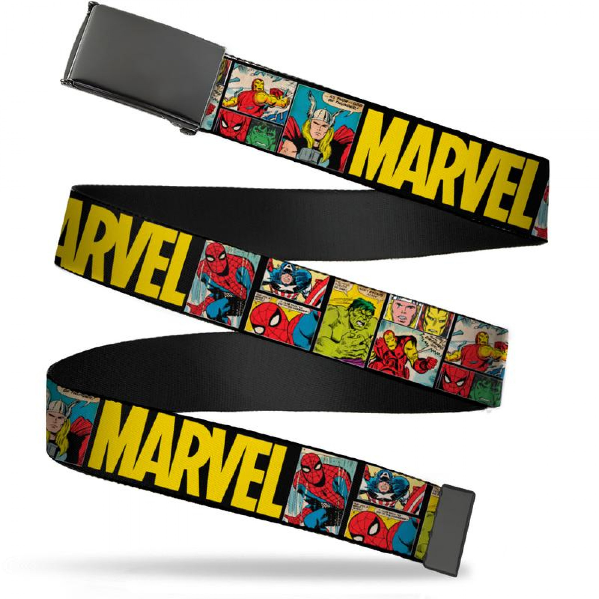 Marvel Retro Comic Panels Adult Web Belt