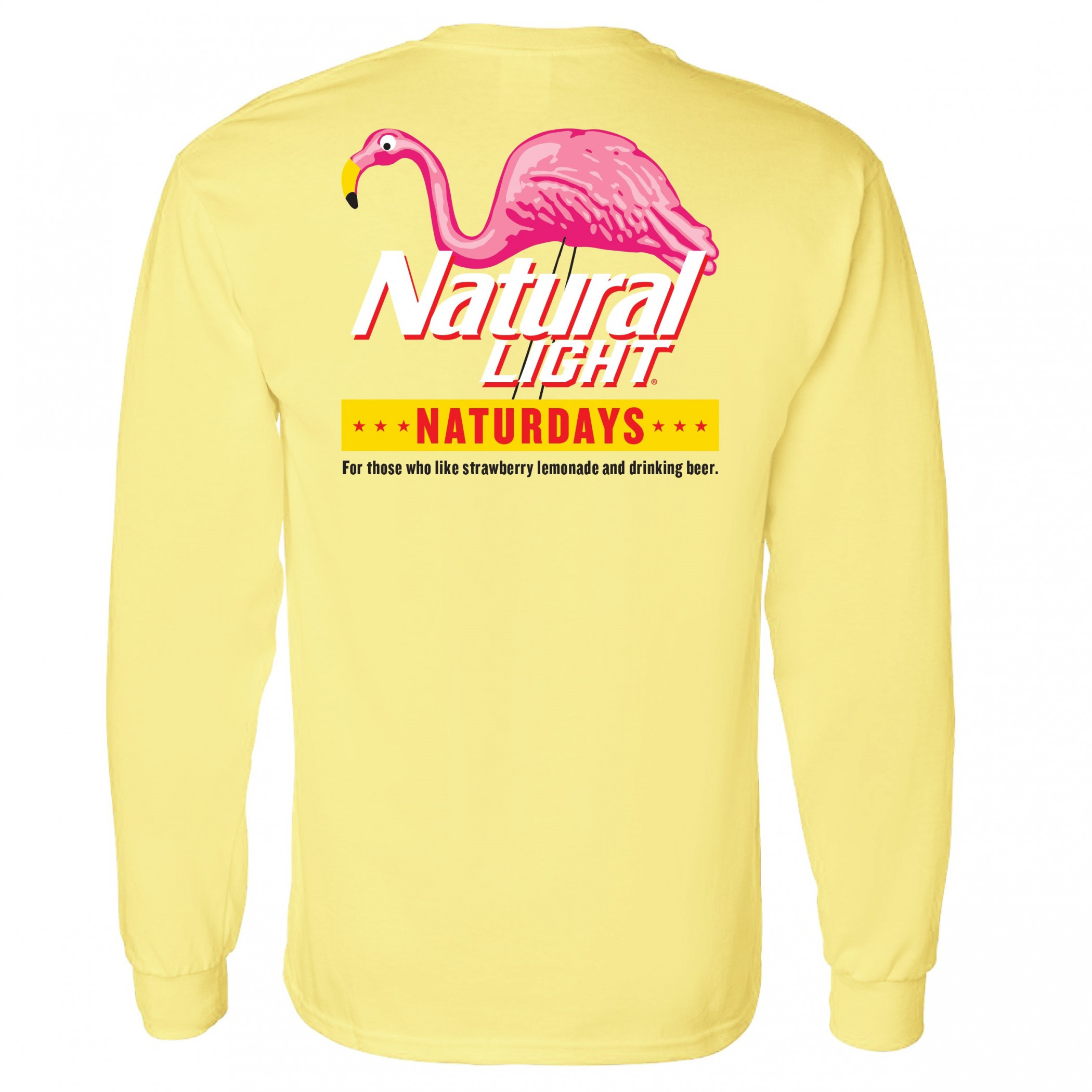 Natural Light Naturdays Flamingo Yellow Long Sleeve Shirt