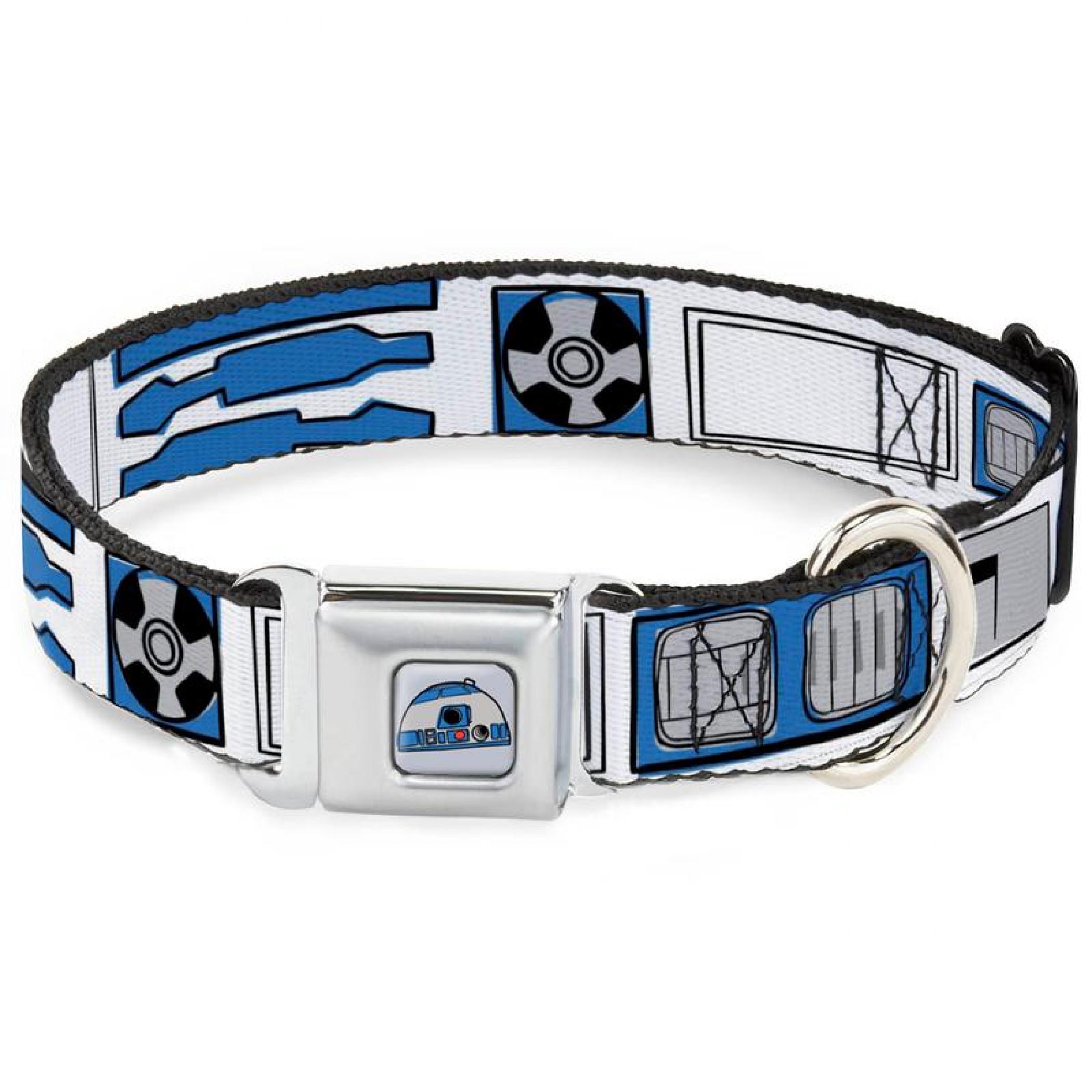 "Star Wars R2-D2 Costume 1"" Wide Dog Collar"