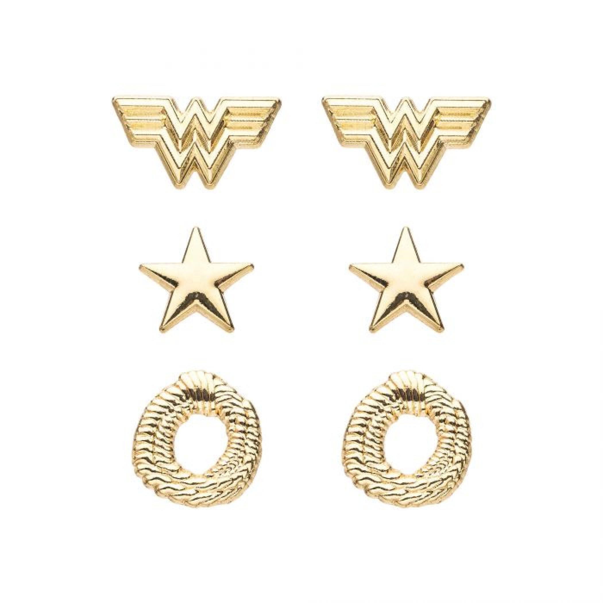 DC Comics Wonder Woman 1984 Stainless Steel Earrings Set