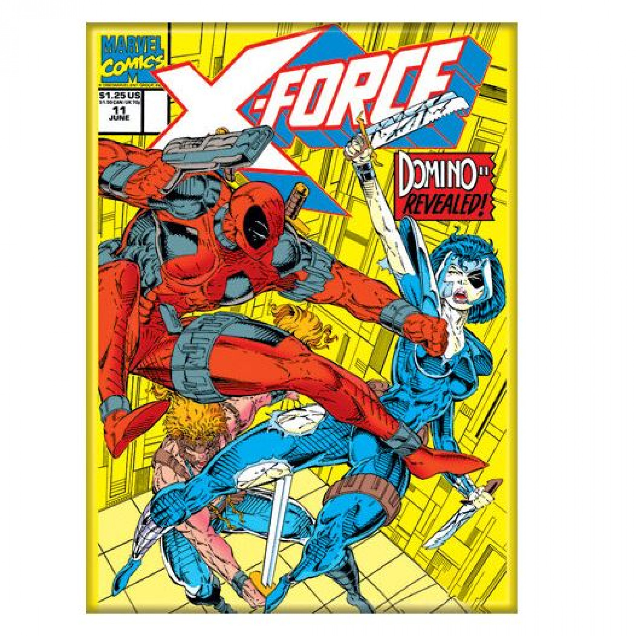 Deadpool X-Force Comic Cover Domino Revealed Magnet
