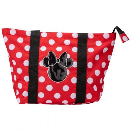 Minnie Mouse Polka Dot Beach Tote Bag