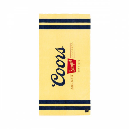 Coors Banquet Golden Colorado Estd 1873 Beach Towel