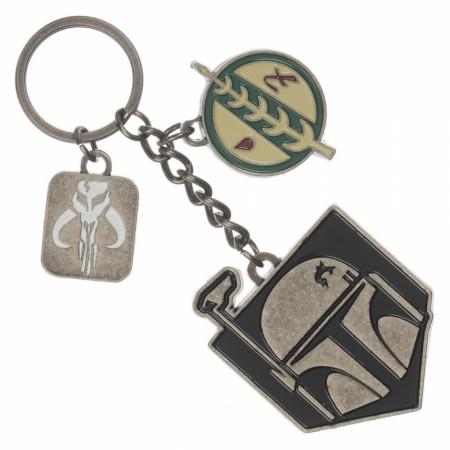 Star Wars Boba Fett Bounty Hunter Multi-Charm Keychain