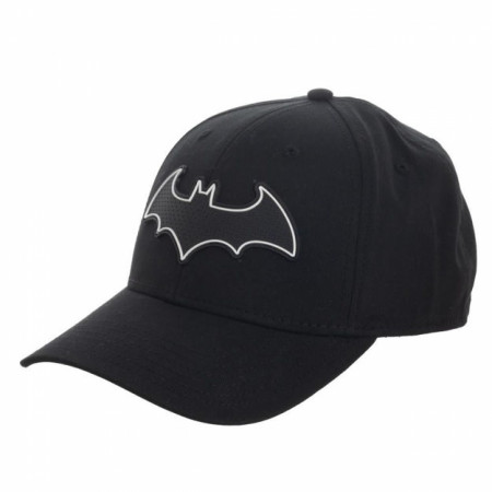 Batman Symbol Rubber Weld Flex Fit Hat