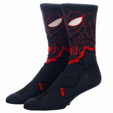 Miles Morales Spider-Man 360 Character Crew Socks